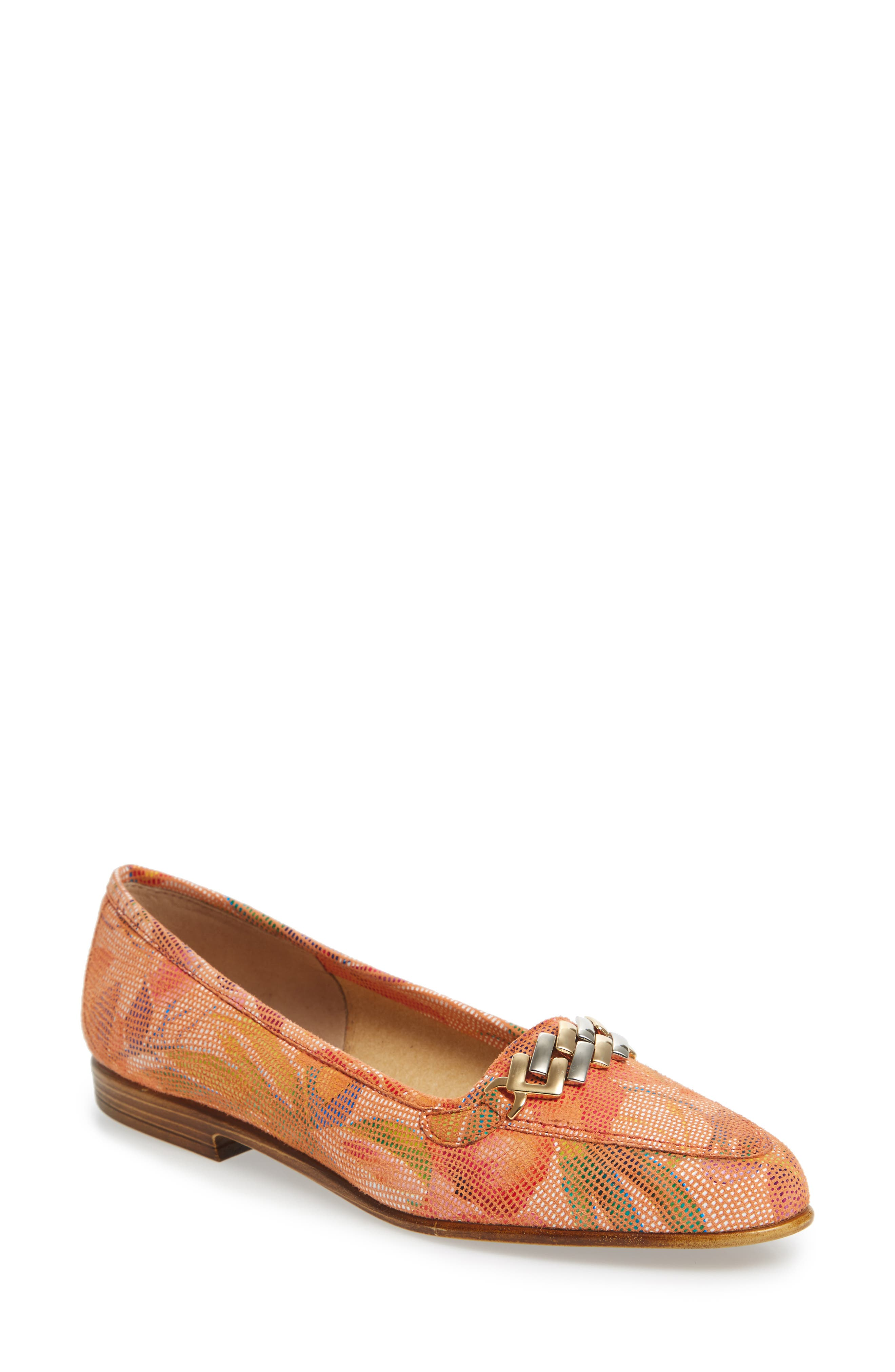 Oste Loafer,                             Main thumbnail 1, color,                             Salmon Leather