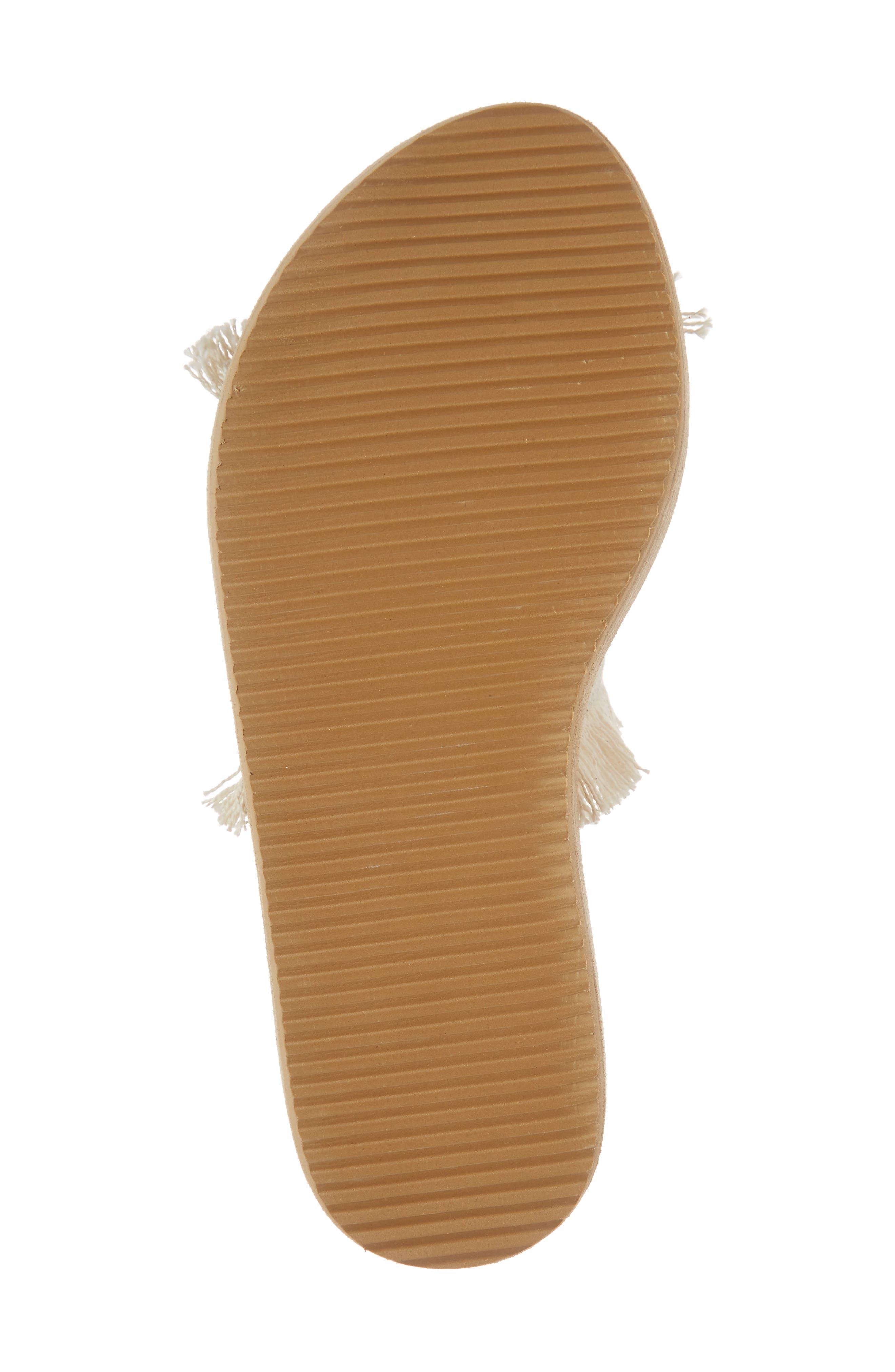 Ebony Platform Sandal,                             Alternate thumbnail 6, color,                             White/ Black Osaka Fabric