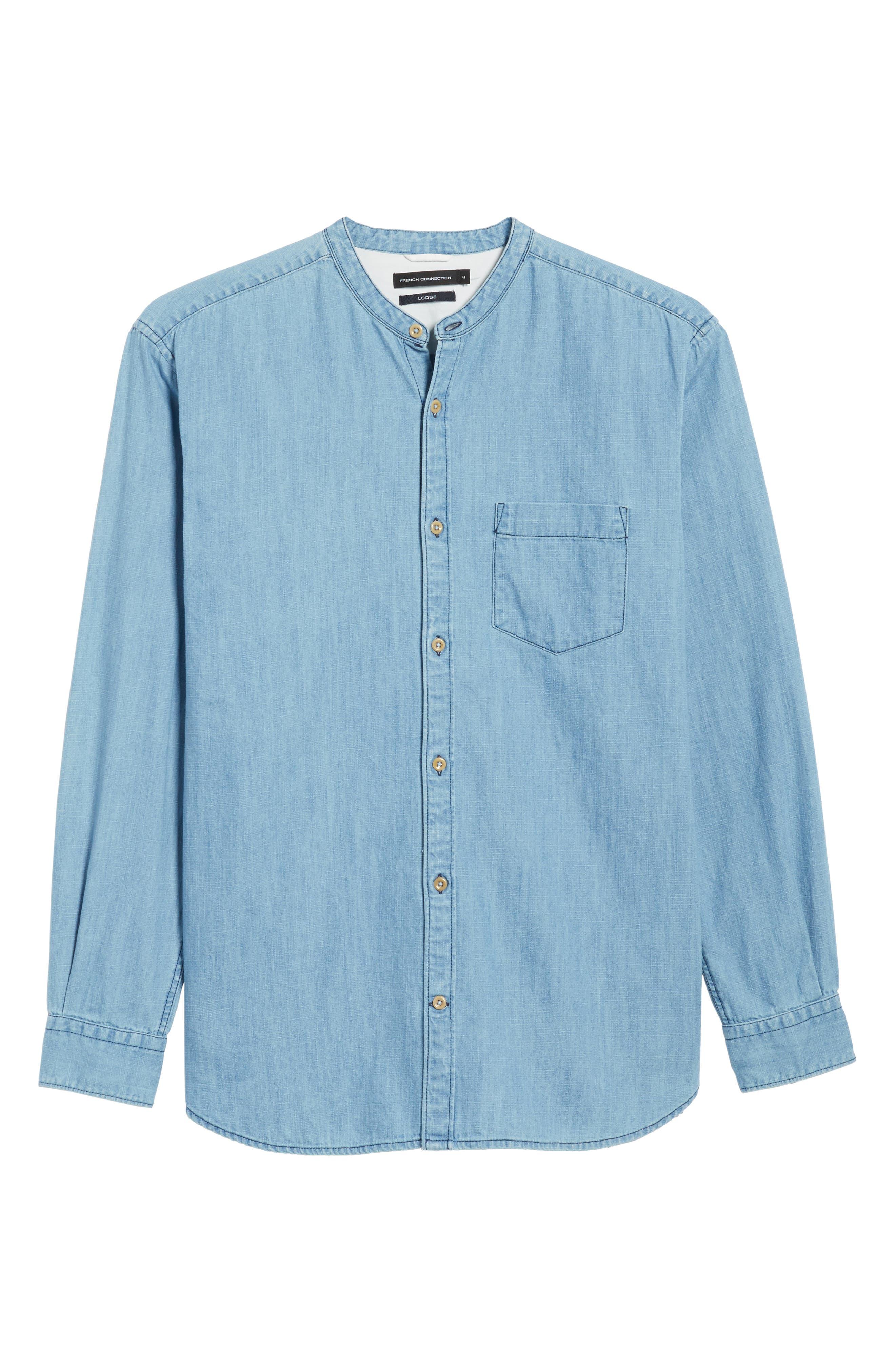 Core Denim Regular Fit Sport Shirt,                             Alternate thumbnail 6, color,                             Bleach