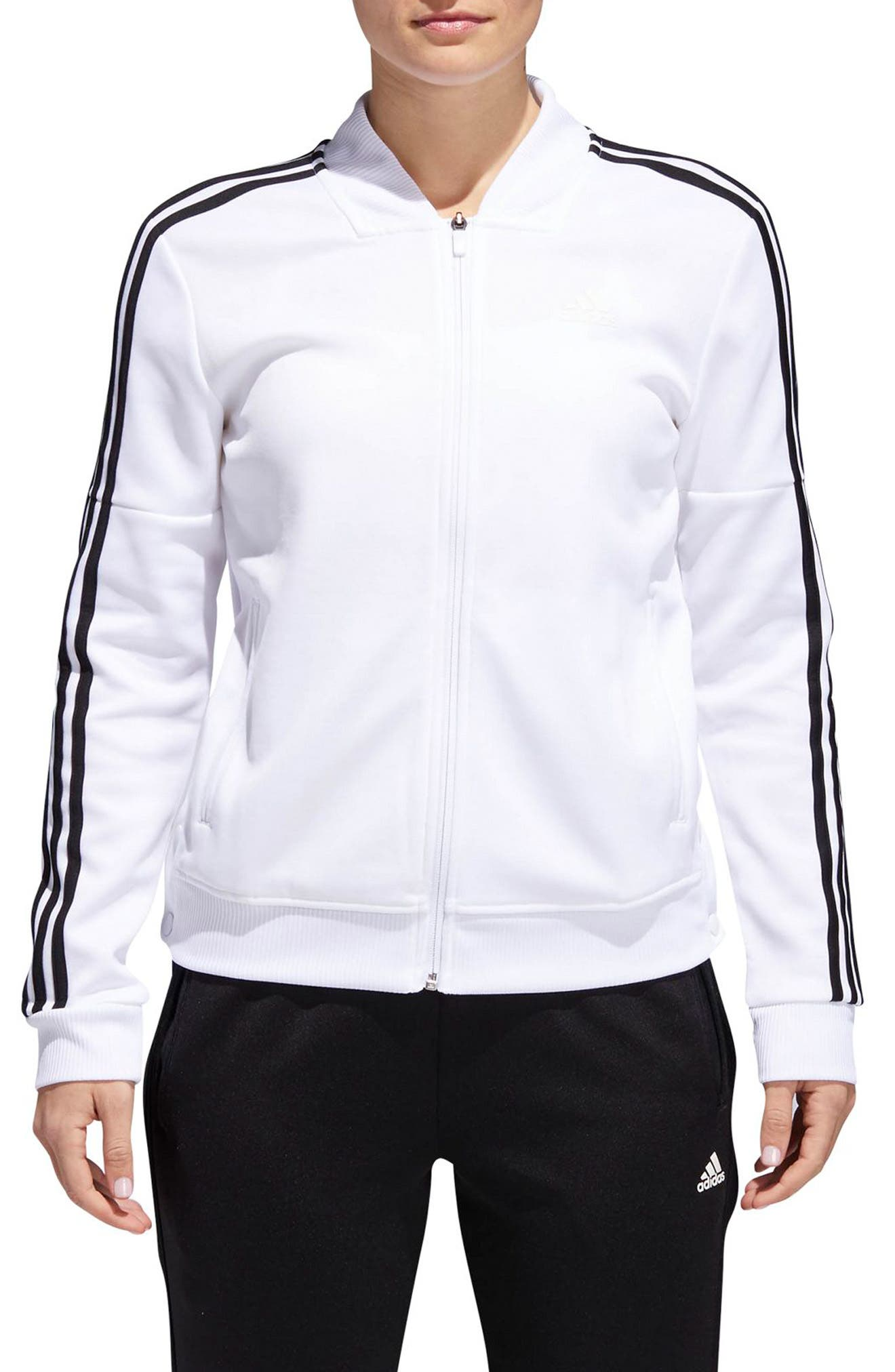 Tricot Snap It Track Jacket,                         Main,                         color, White/ Black