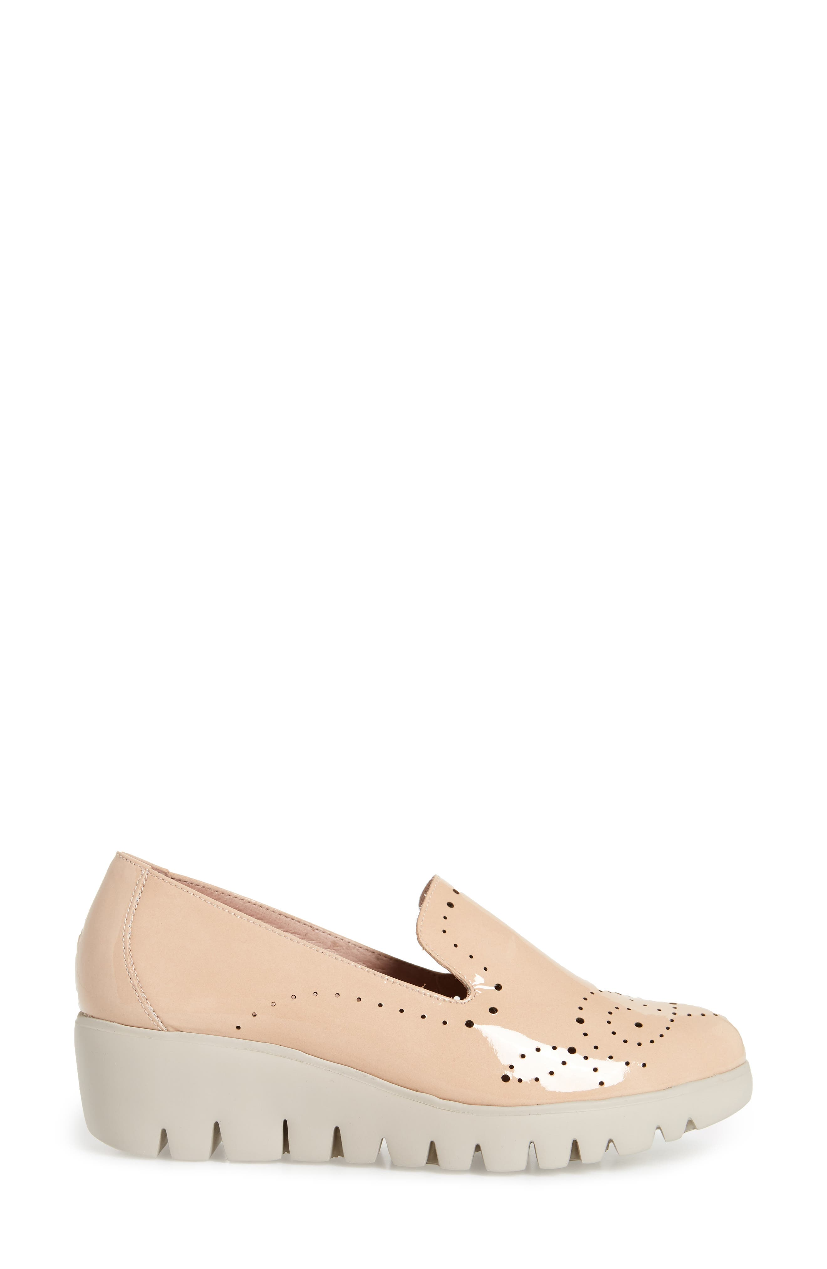 C-33114 Loafer Wedge,                             Alternate thumbnail 3, color,                             Palo Beige Leather