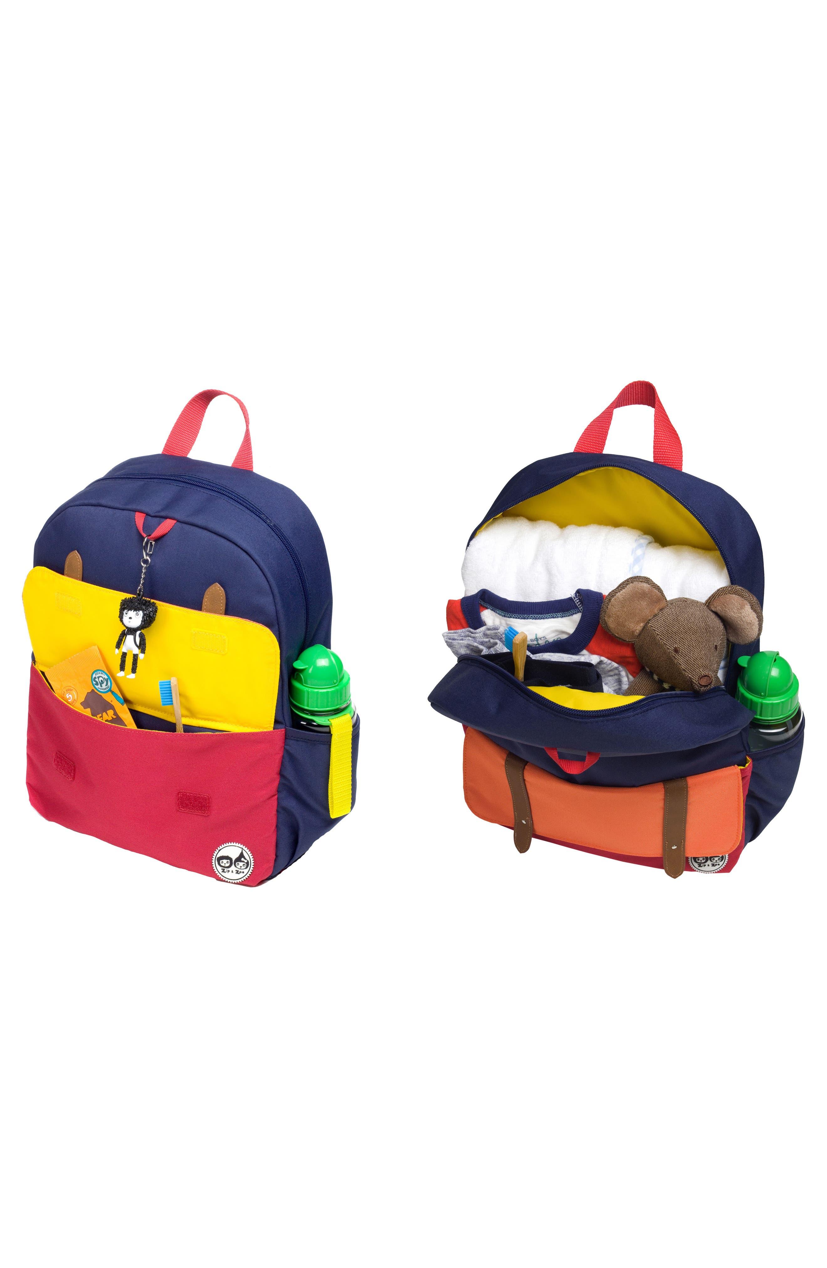 Zip & Zoe Colorblock Junior Backpack,                             Alternate thumbnail 10, color,                             Blue