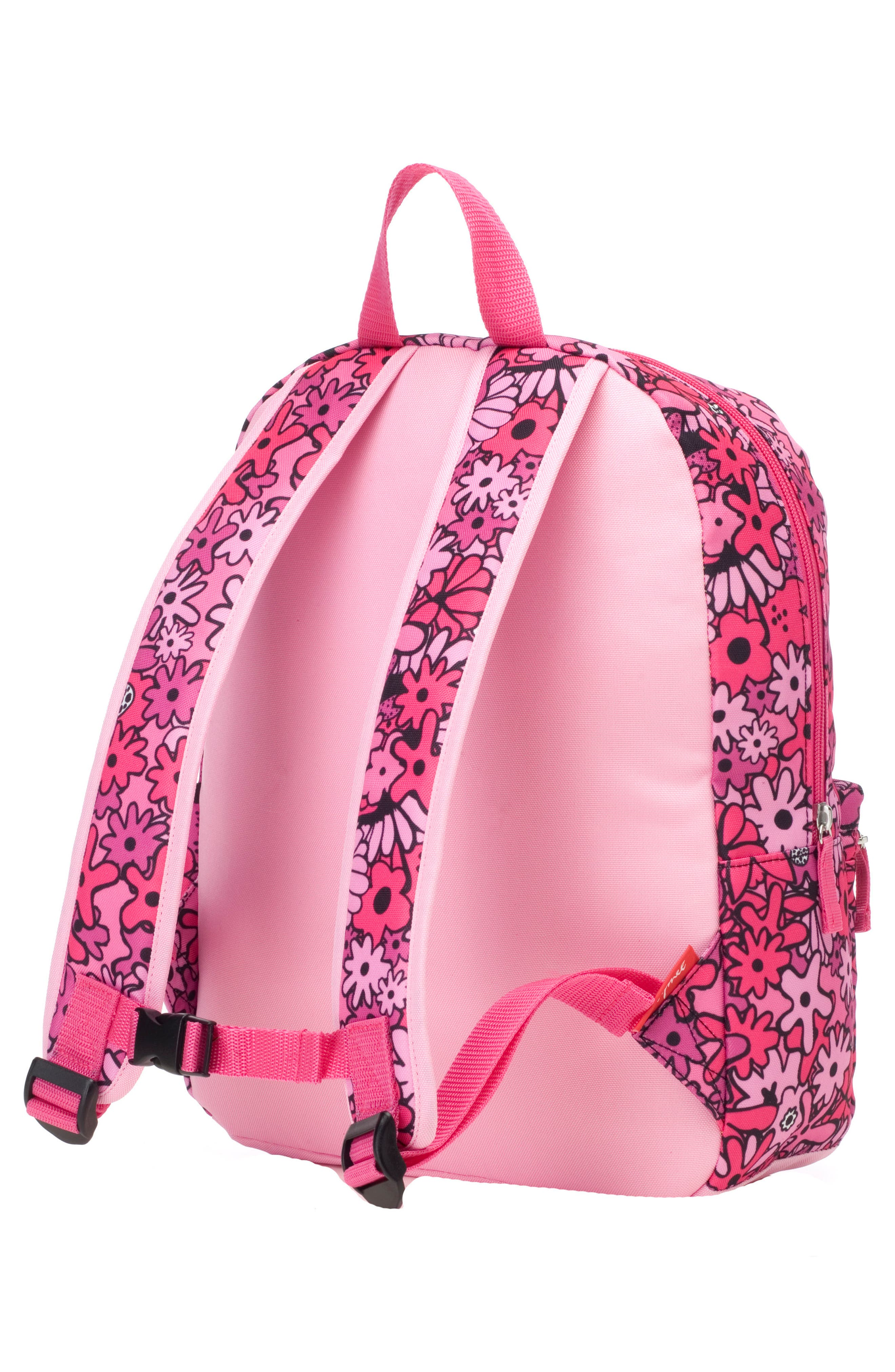 Zip & Zoe Floral Junior Backpack,                             Alternate thumbnail 5, color,                             Floral Pink