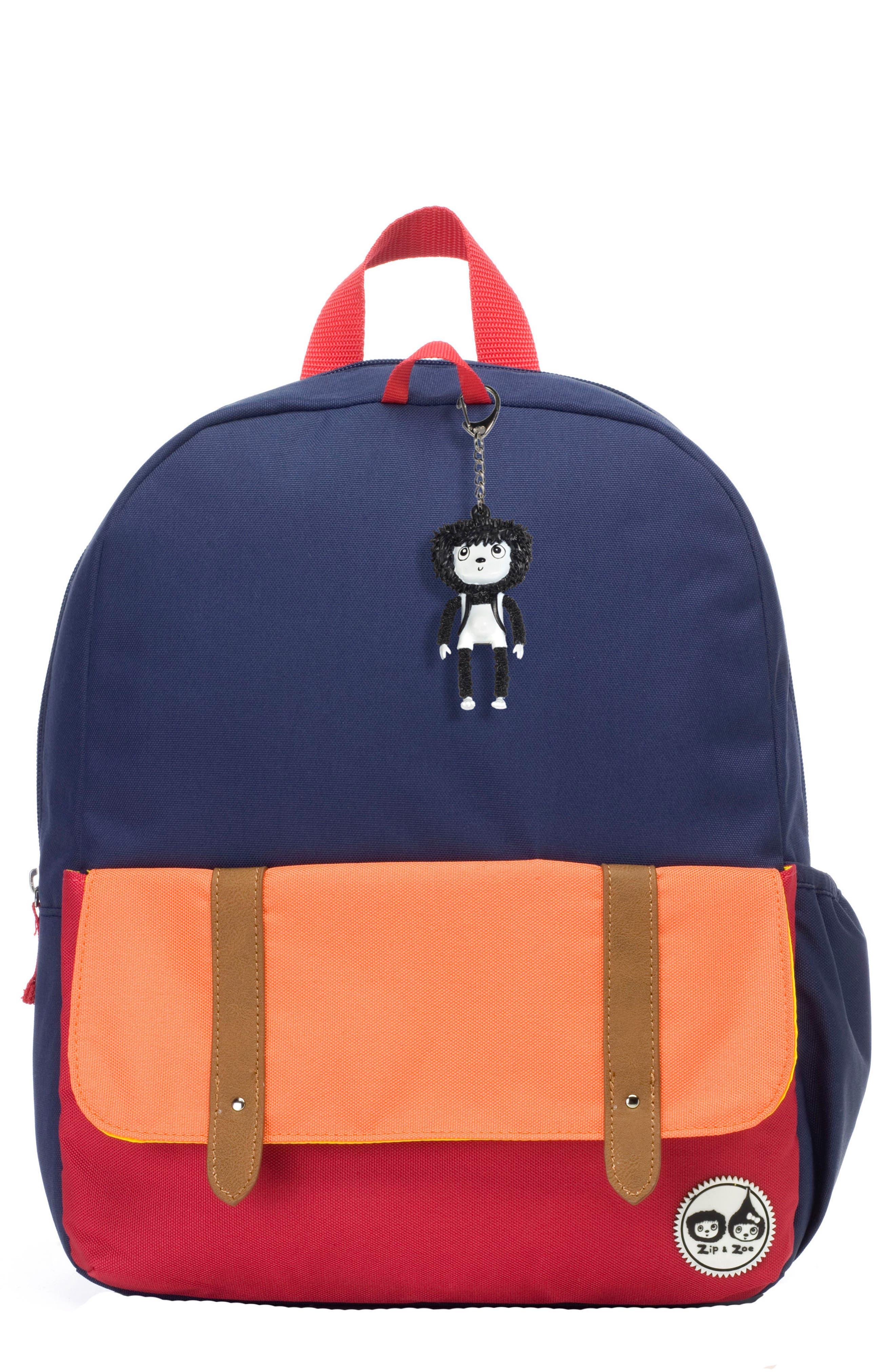 Zip & Zoe Colorblock Junior Backpack,                             Main thumbnail 1, color,                             Blue