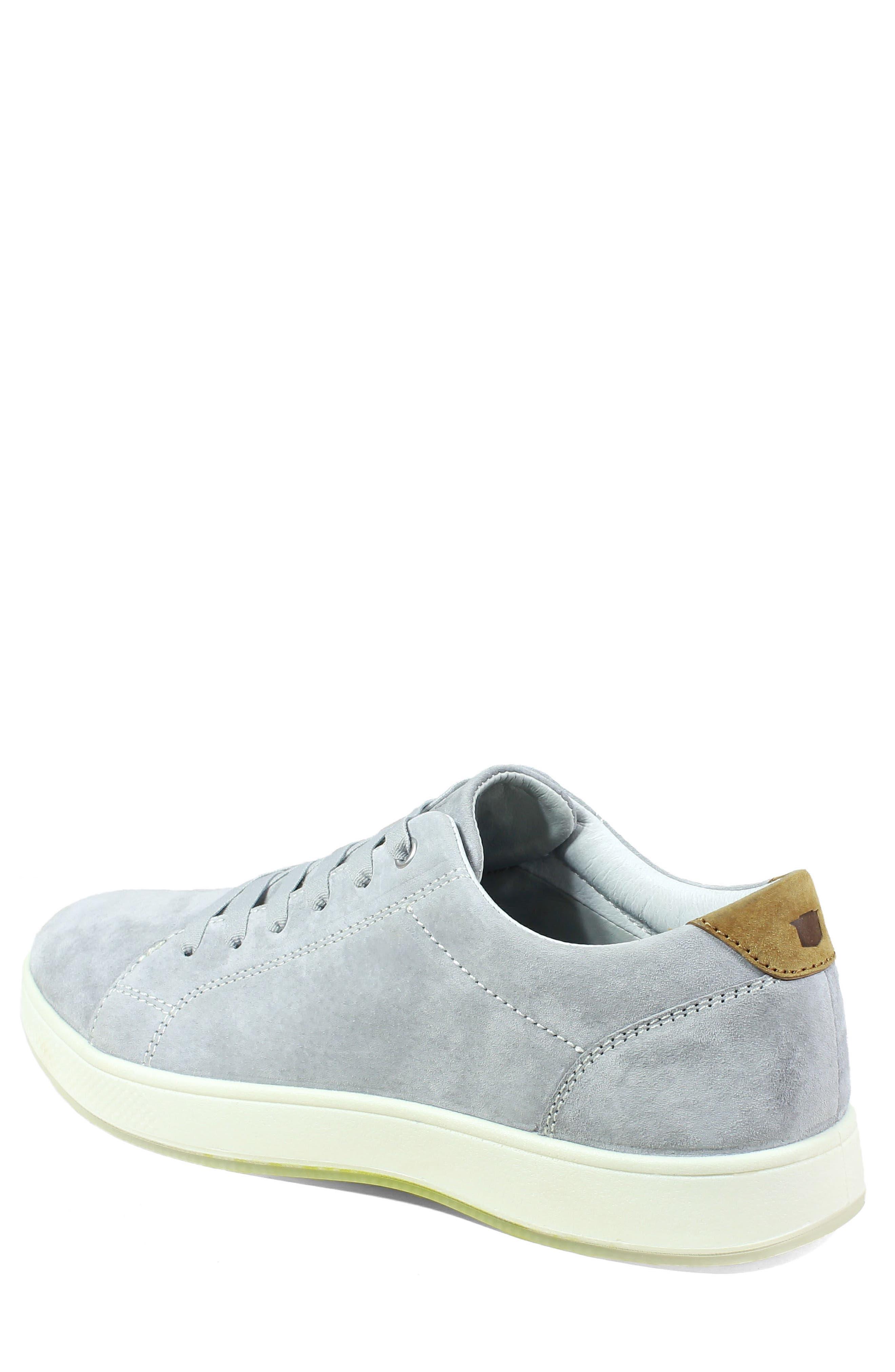 Edge Low Top Sneaker,                             Alternate thumbnail 2, color,                             Gray Nubuck