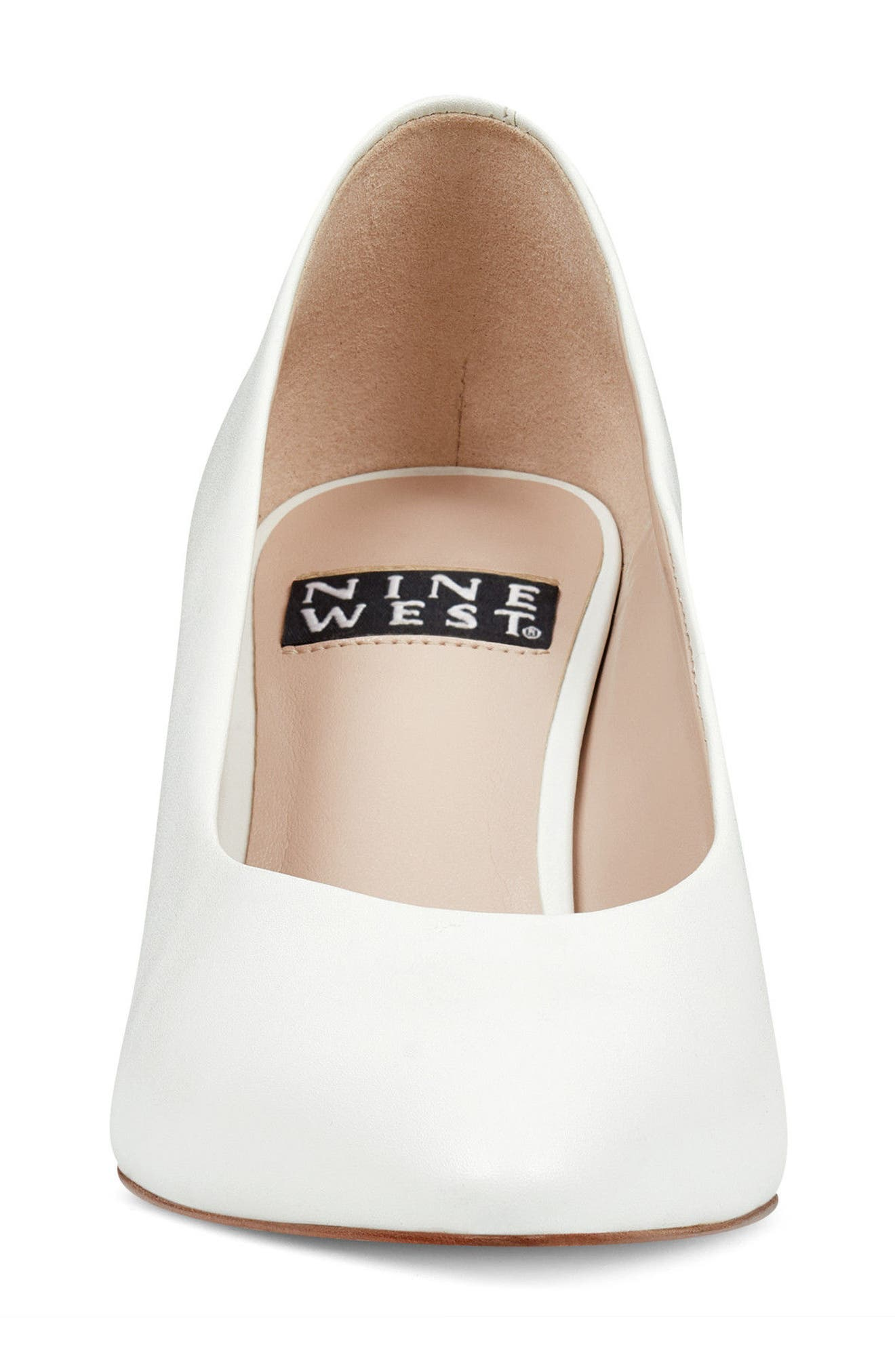 Faith - 40th Anniversary Capsule Collection Pump,                             Alternate thumbnail 4, color,                             White Leather
