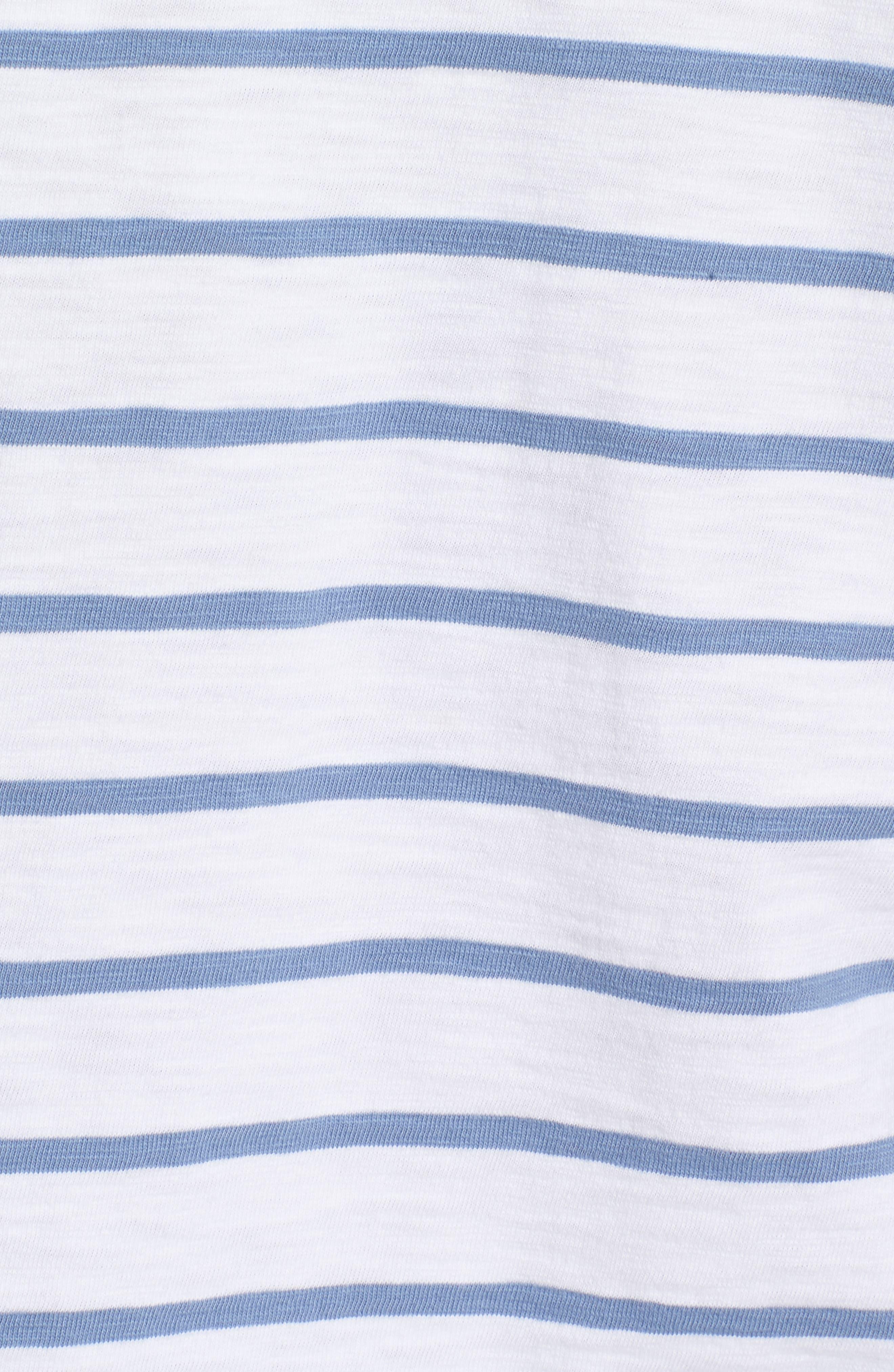 Ocean Course Slub Cotton Hoodie,                             Alternate thumbnail 5, color,                             Squall Grey