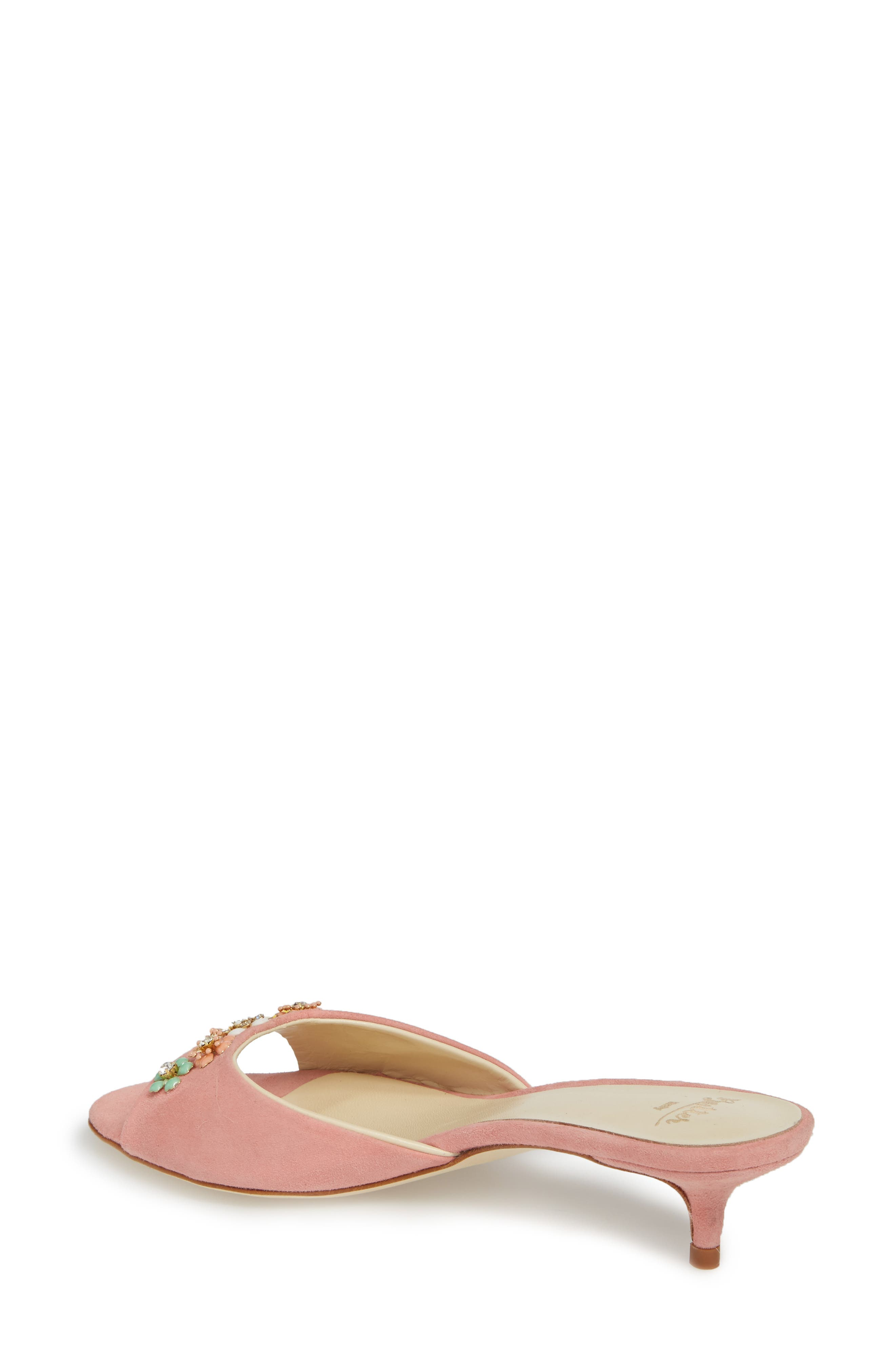 Butter Betteye Embellished Mule,                             Alternate thumbnail 2, color,                             Seashell Suede