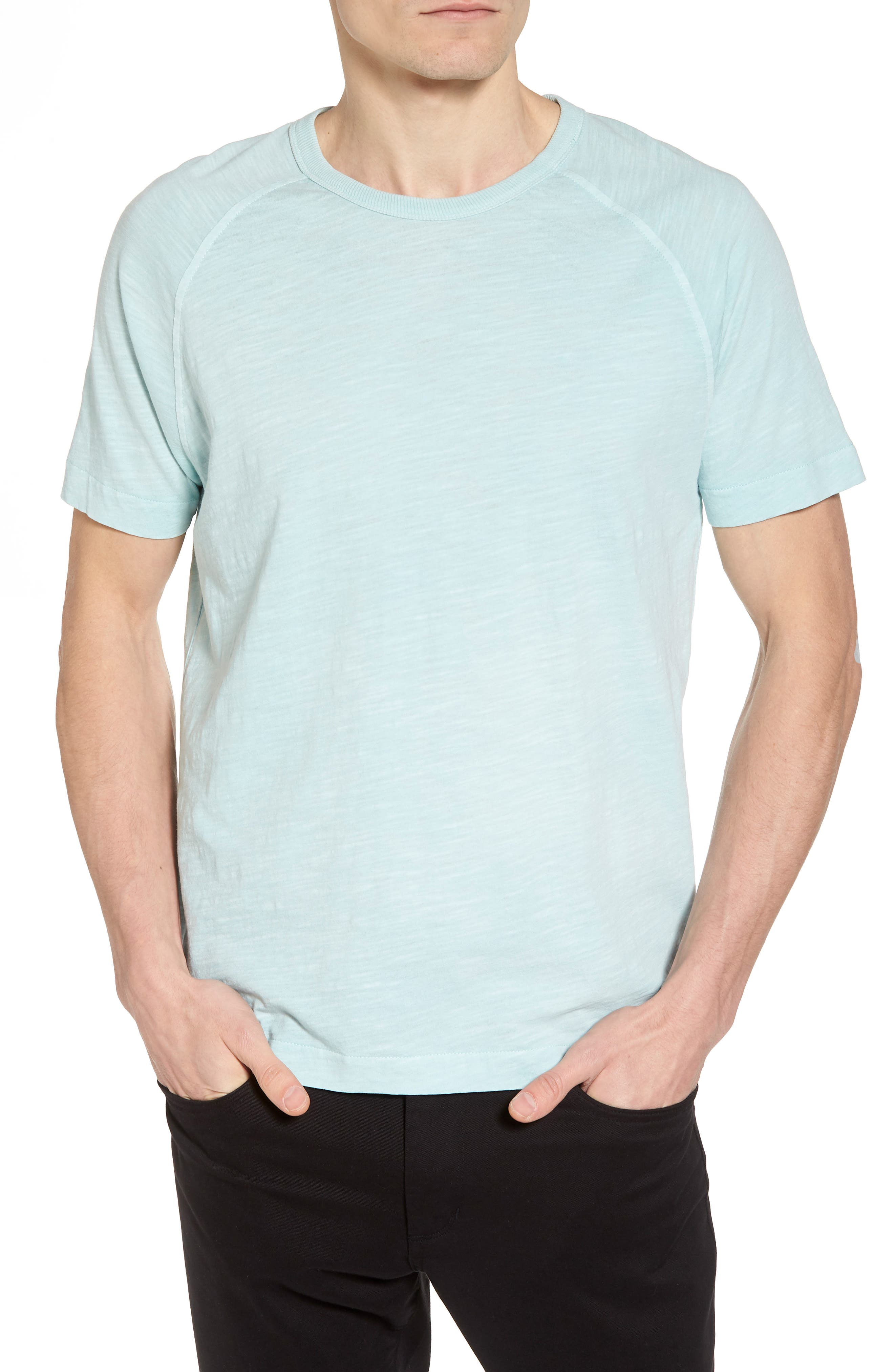 Television Raglan T-Shirt,                         Main,                         color, Sky