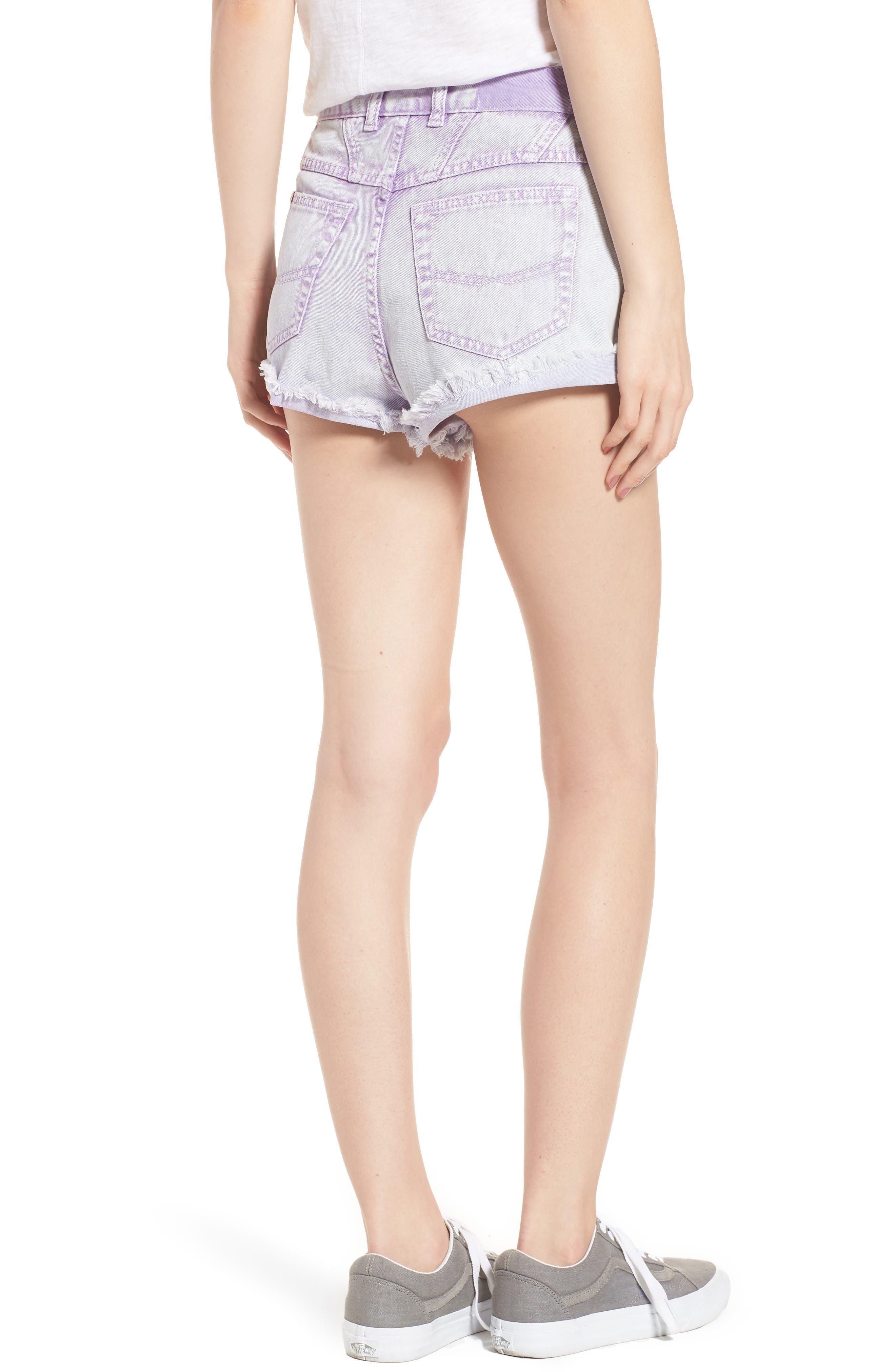 Unionbay Devo Acid Wash Denim Shorts,                             Alternate thumbnail 2, color,                             Ultra Lilac