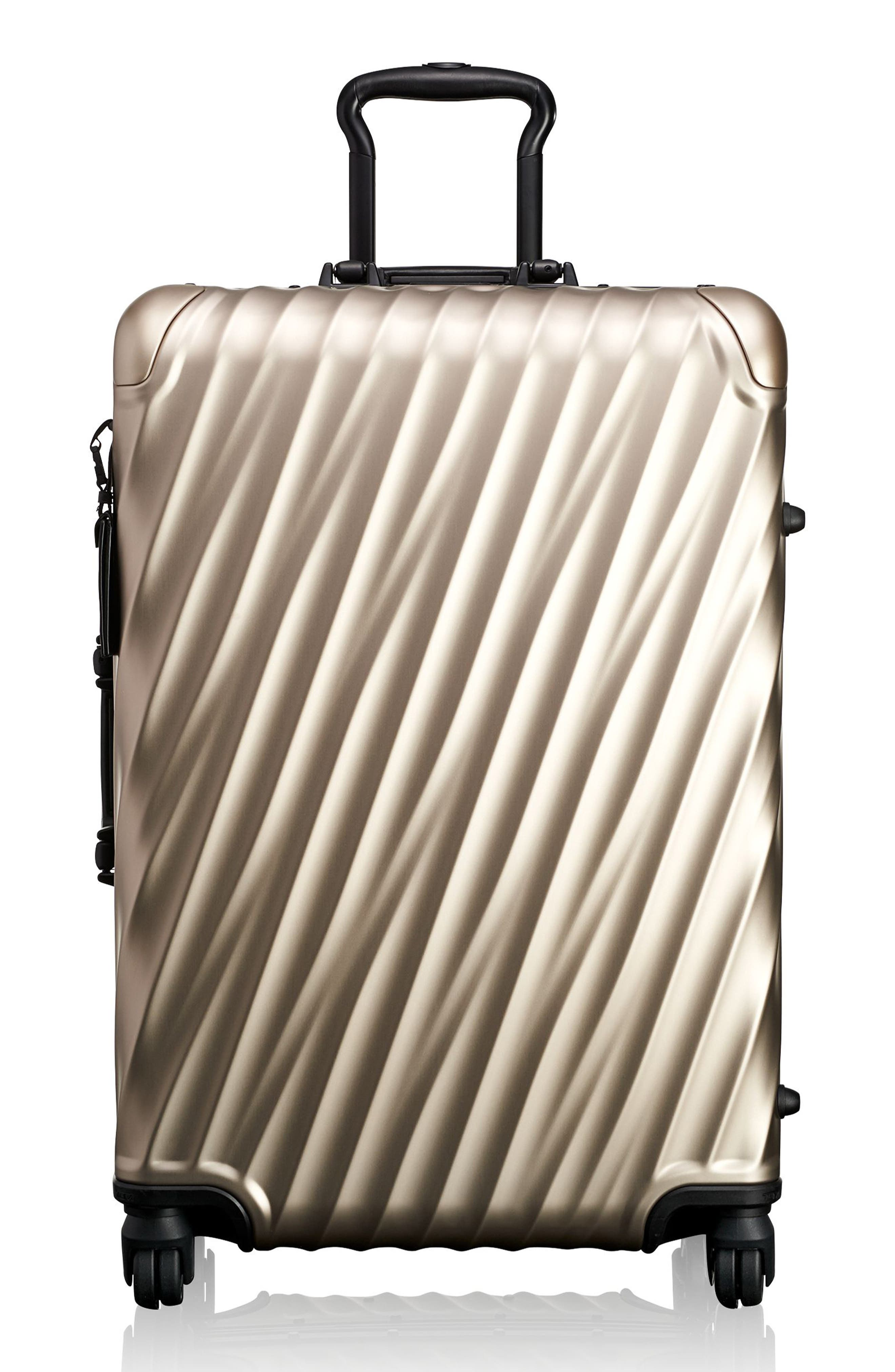19-Degree 26-Inch Aluminum Spinner Packing Case,                             Main thumbnail 1, color,                             Ivory Gold