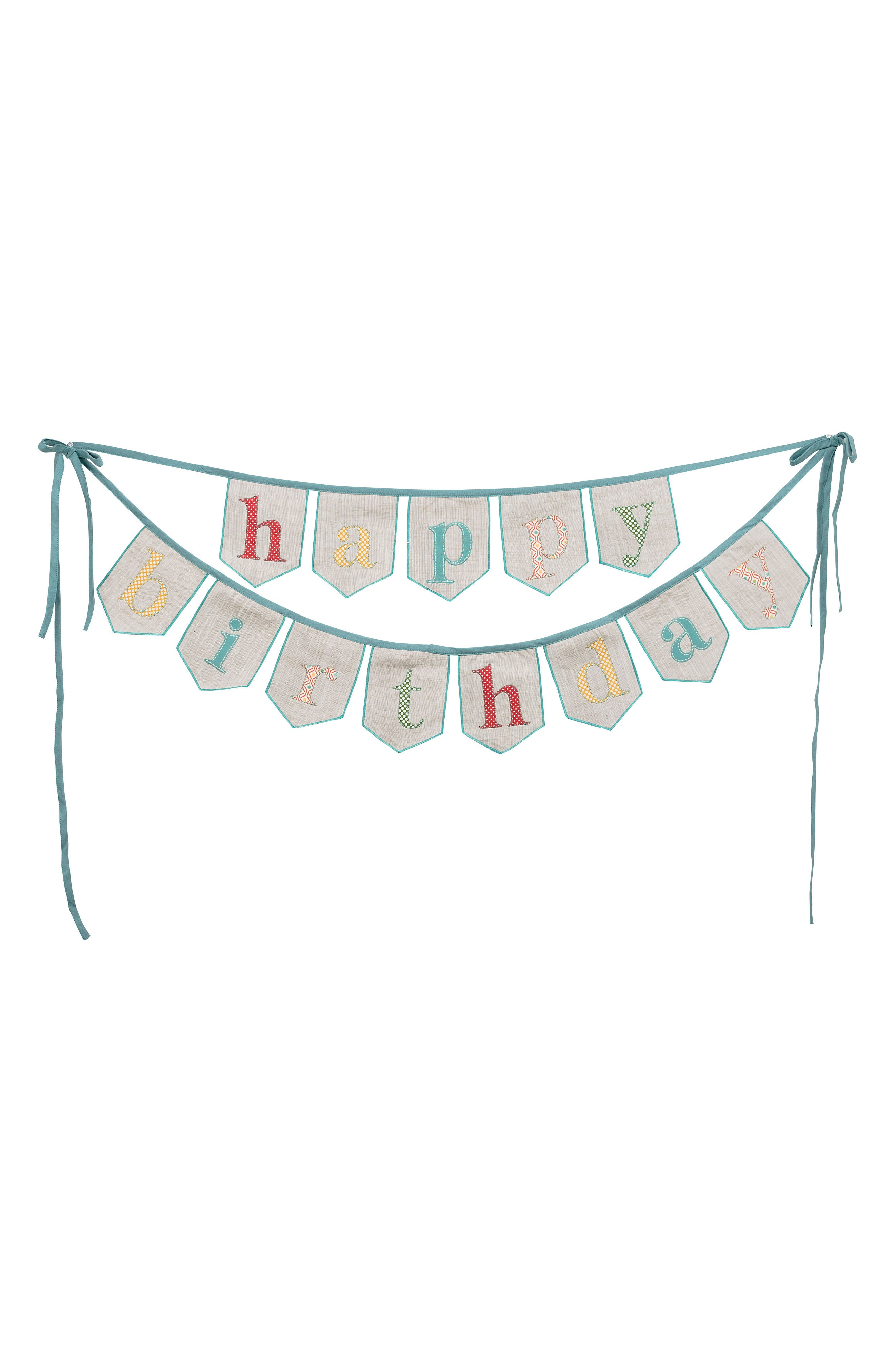 Happy Birthday Banner,                             Main thumbnail 1, color,                             Blue/ Multi