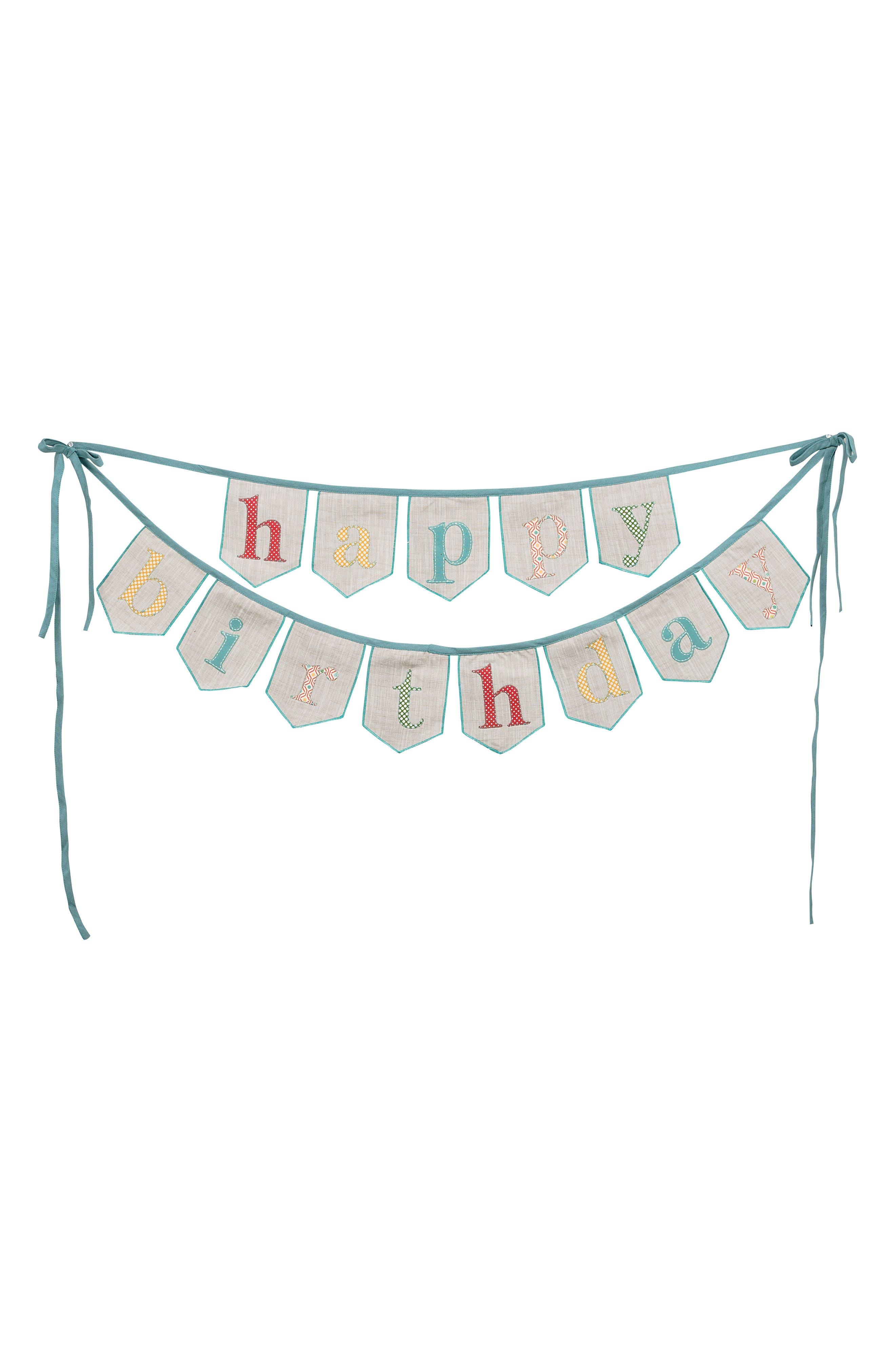 Happy Birthday Banner,                         Main,                         color, Blue/ Multi
