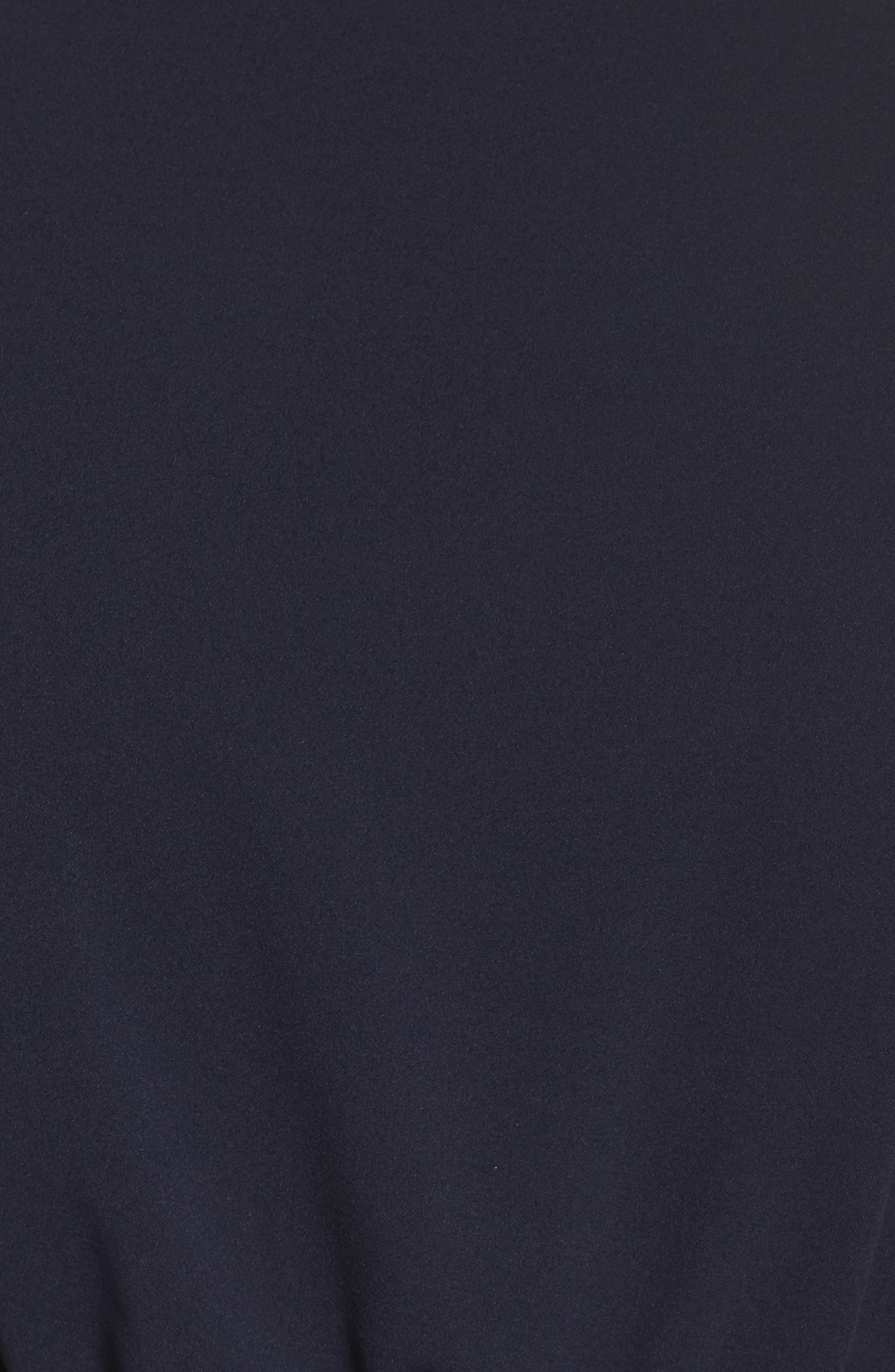 Flutter Sleeve Crepe Jumpsuit,                             Alternate thumbnail 5, color,                             Midnight