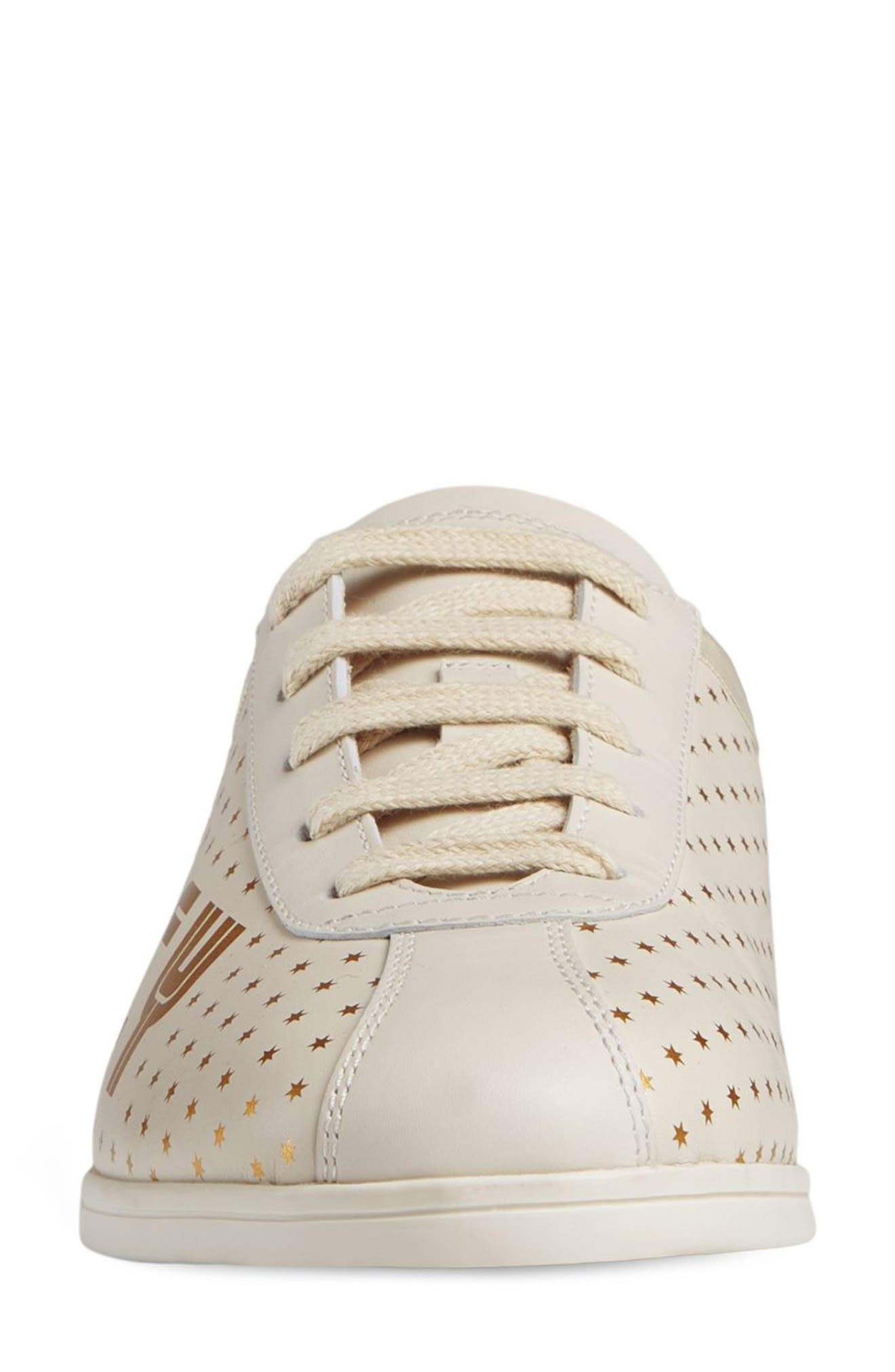 Falacer Guccy Logo Sneaker,                             Alternate thumbnail 3, color,                             White