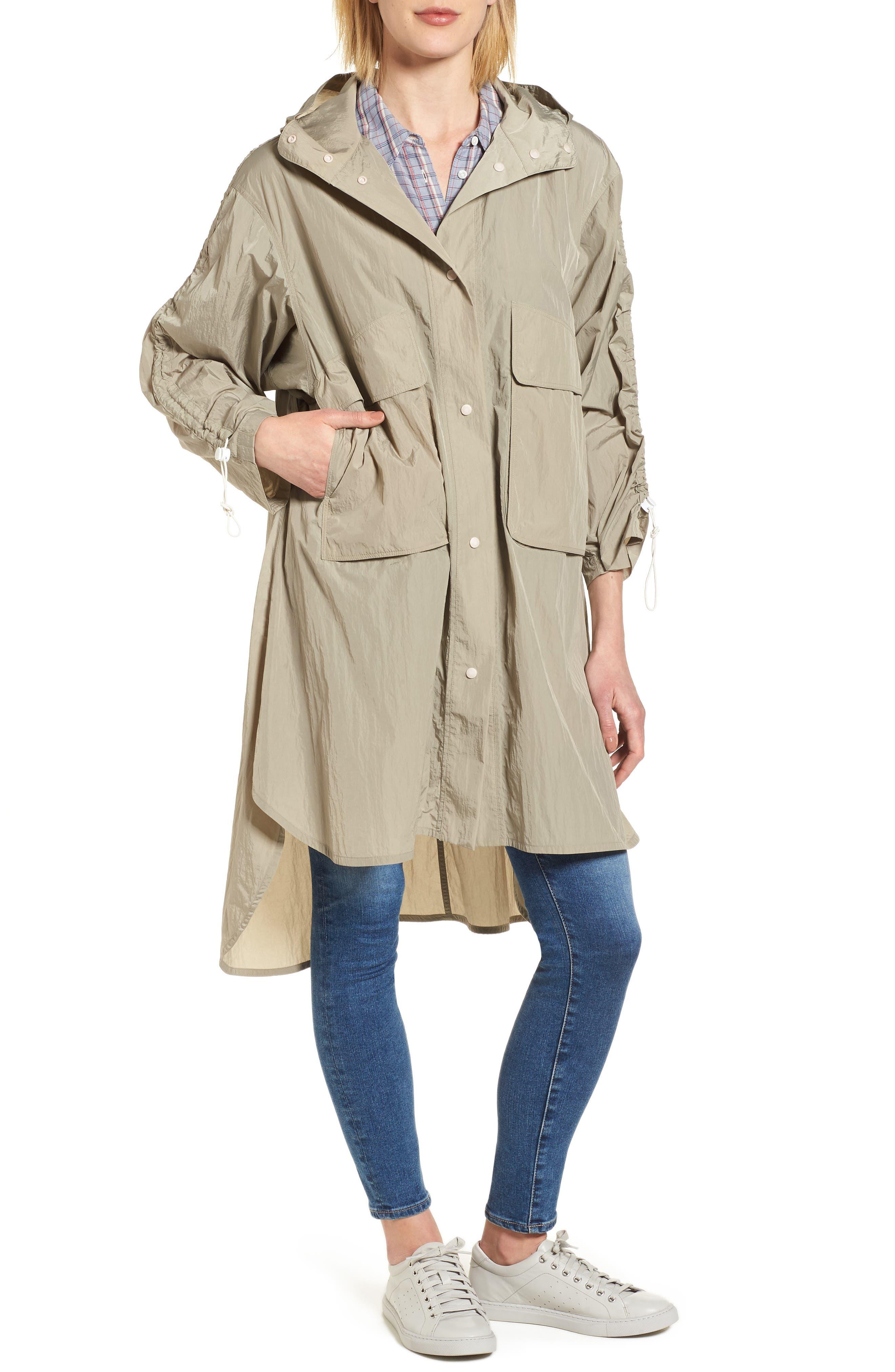 Florence Hooded Jacket,                             Alternate thumbnail 4, color,                             Dune