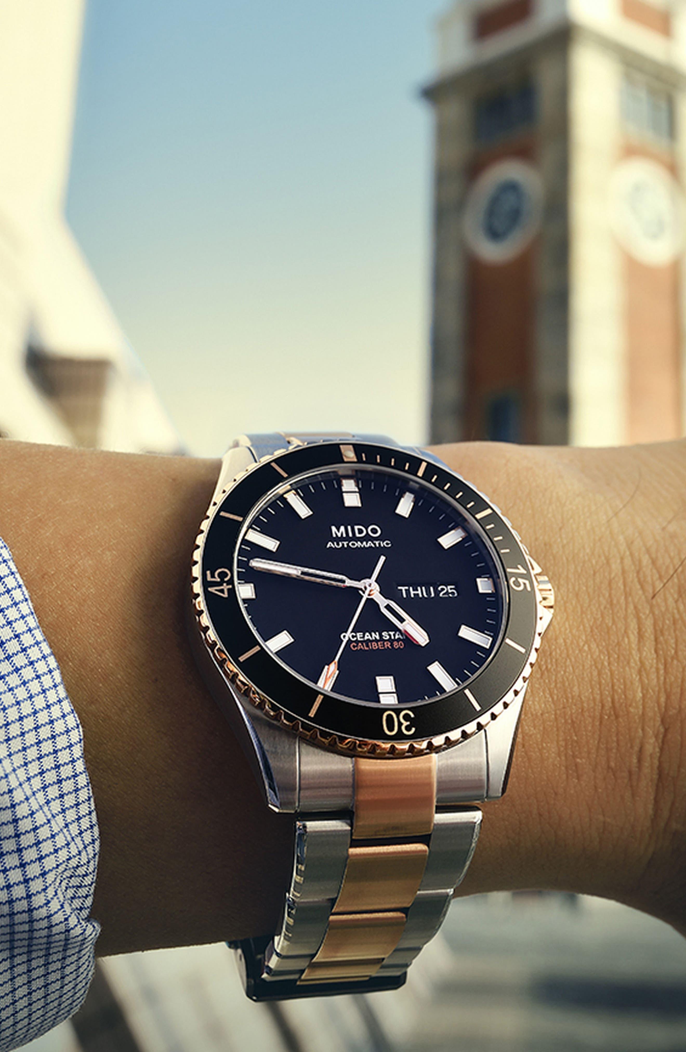 Alternate Image 4  - Mido Ocean Star Diver Bracelet Watch, 42mm
