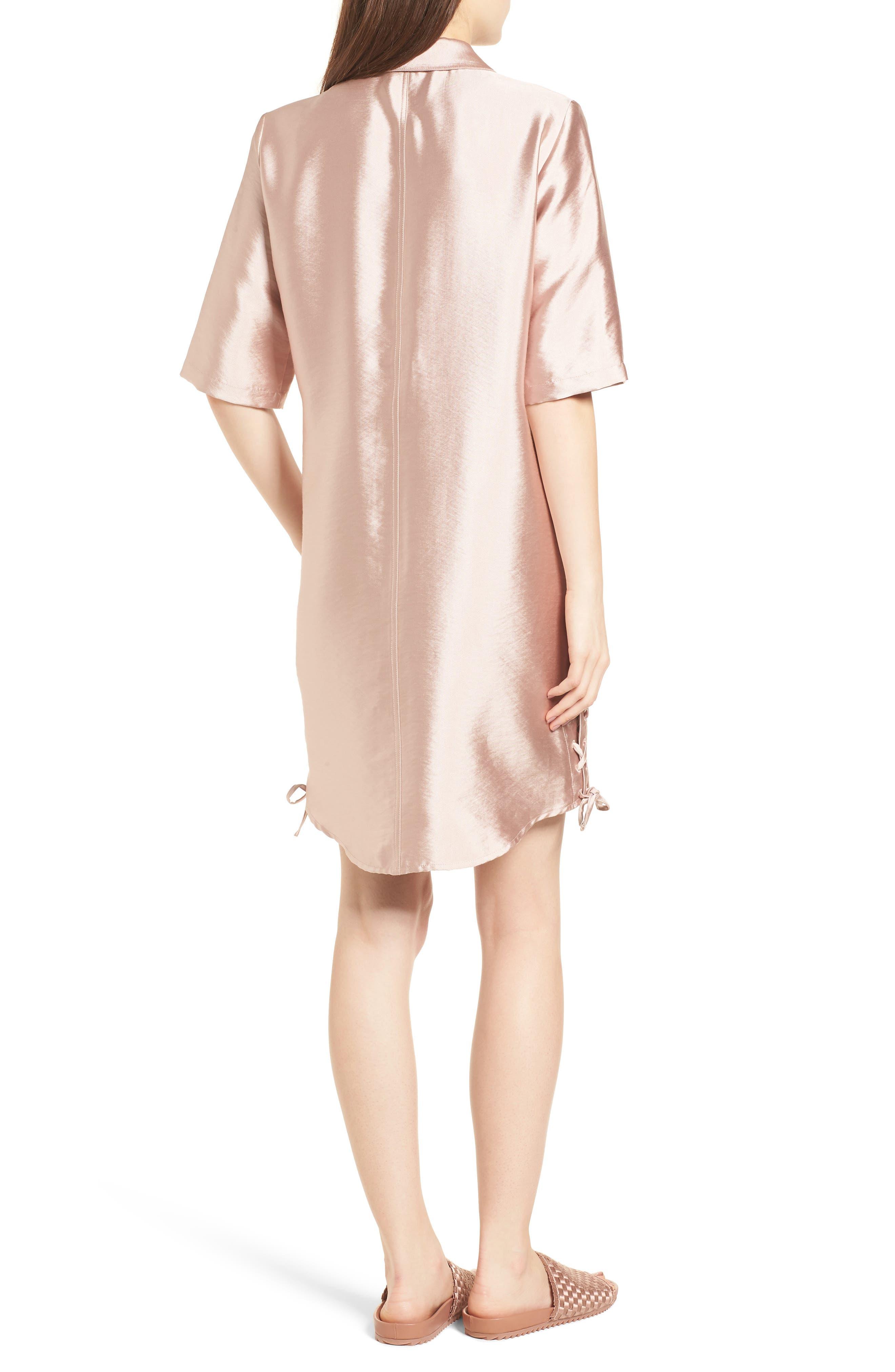 Safari Shirtdress,                             Alternate thumbnail 3, color,                             Pink Sand