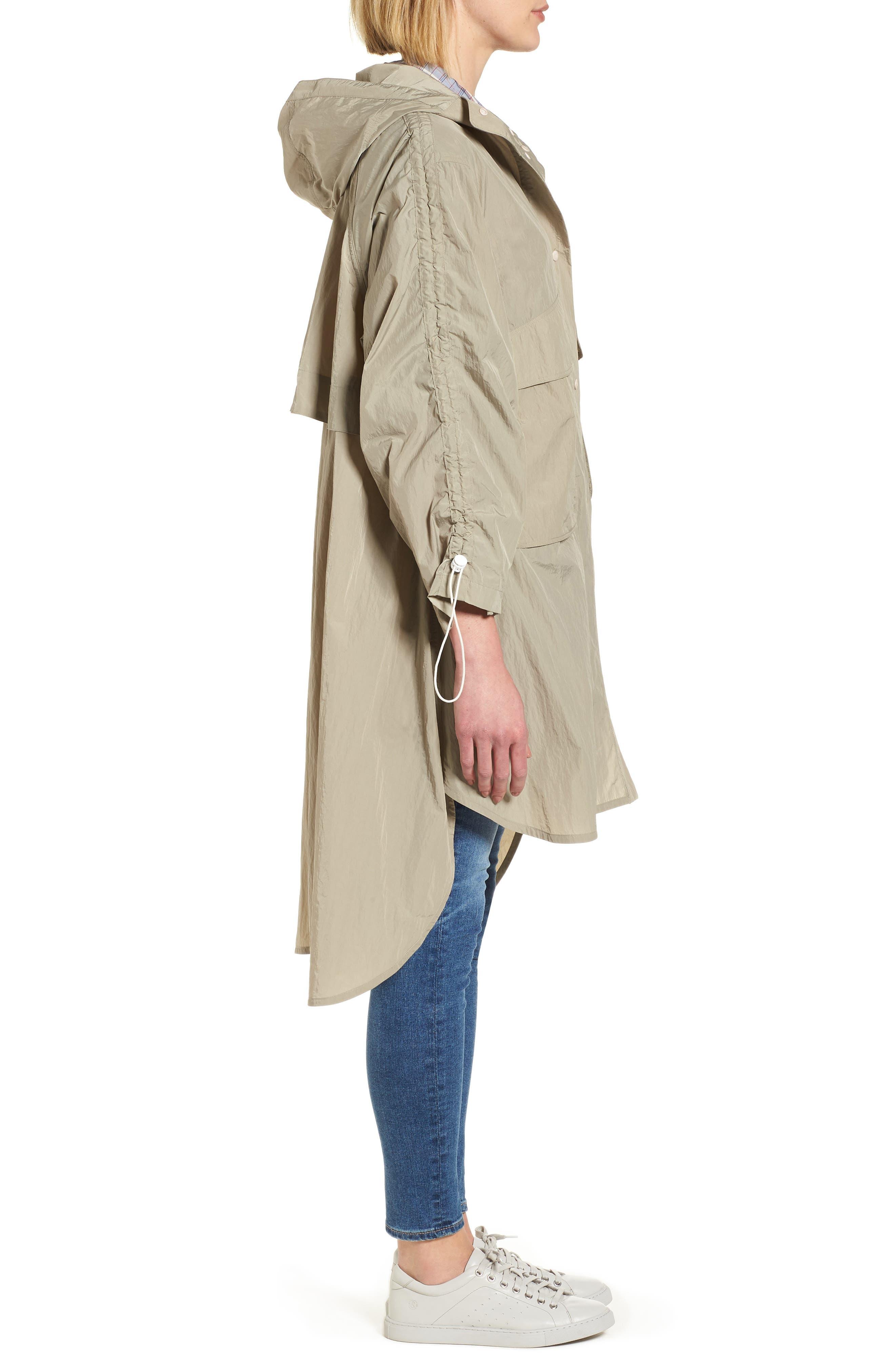 Florence Hooded Jacket,                             Alternate thumbnail 3, color,                             Dune