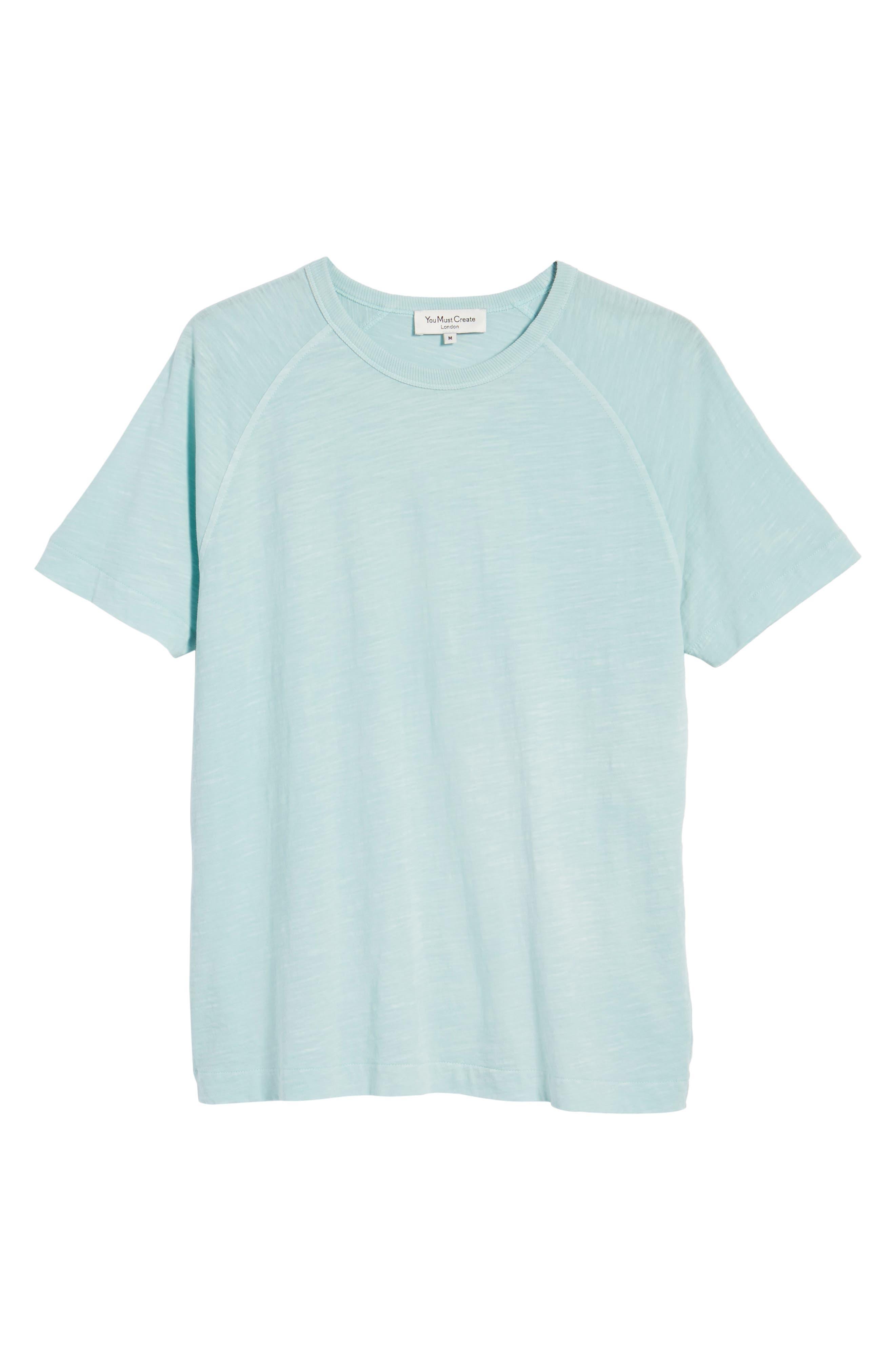 Television Raglan T-Shirt,                             Alternate thumbnail 6, color,                             Sky