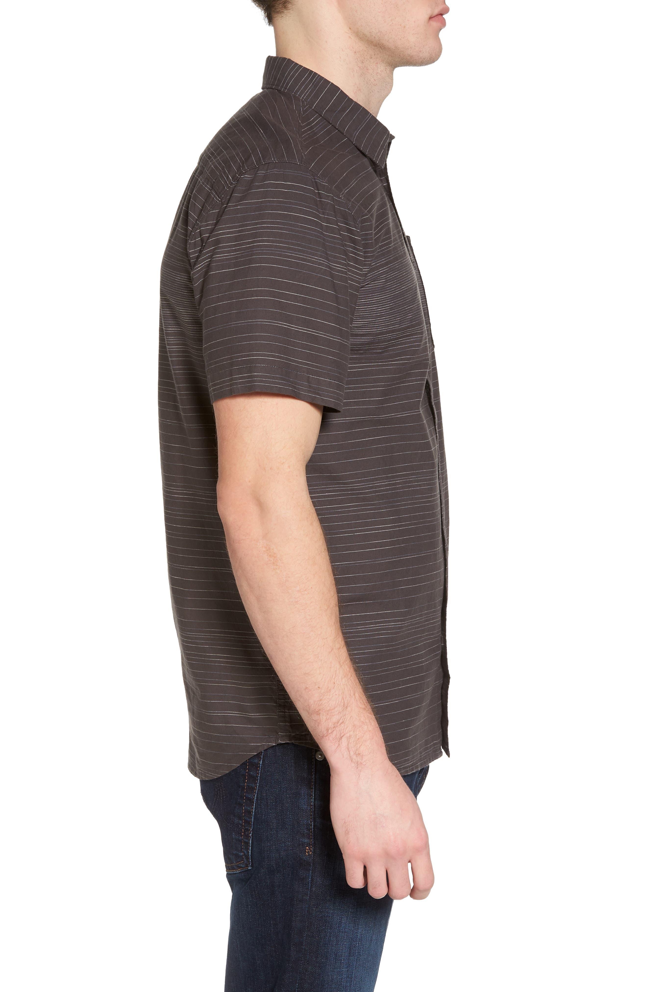 Hound Woven Shirt,                             Alternate thumbnail 3, color,                             Asphalt