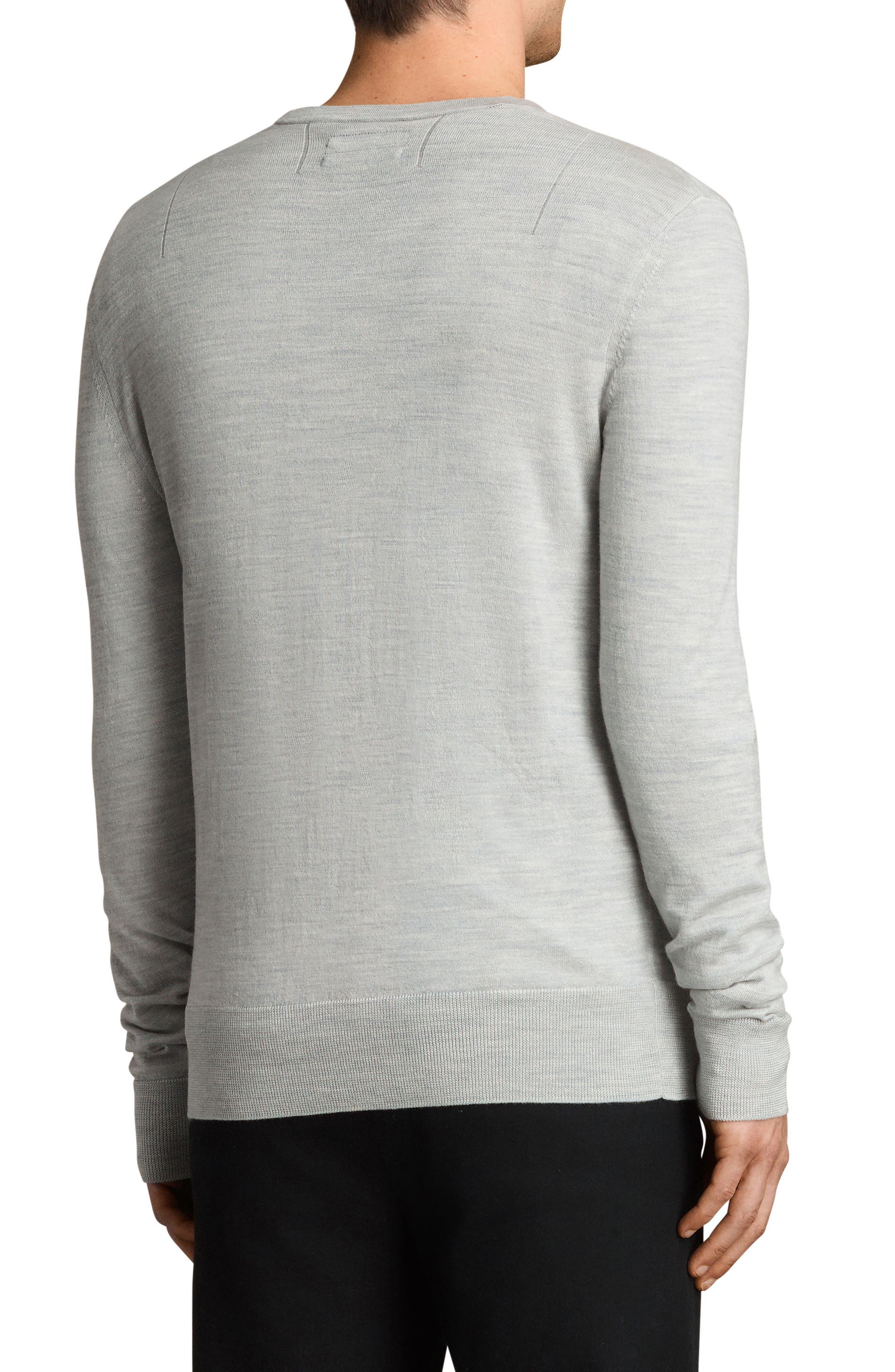 Mode Slim Fit Merino Wool Sweater,                             Alternate thumbnail 2, color,                             Light Grey Marl