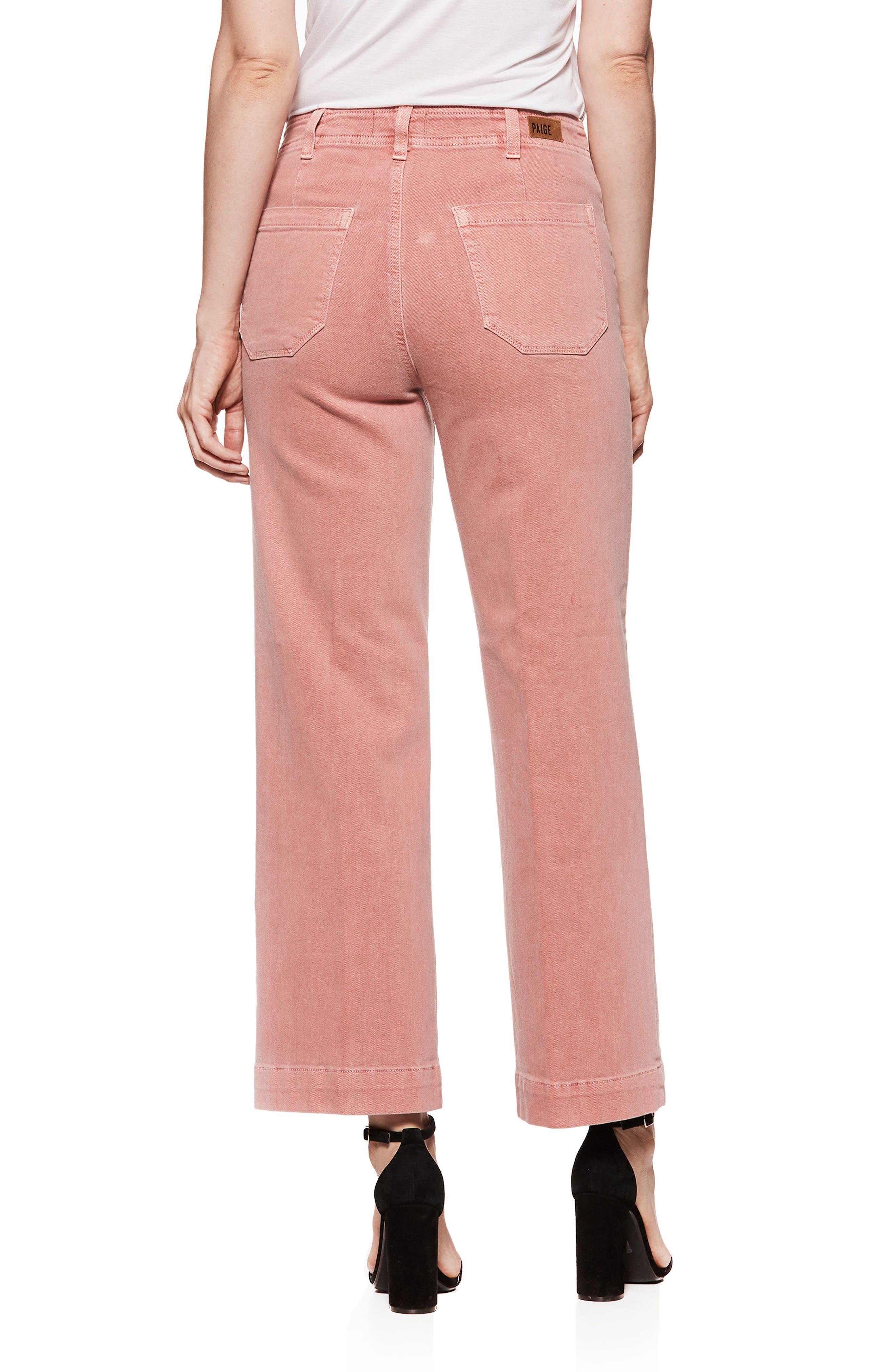 Nellie Clean Front Culotte Jeans,                             Alternate thumbnail 3, color,                             Vintage Desert Sunrise