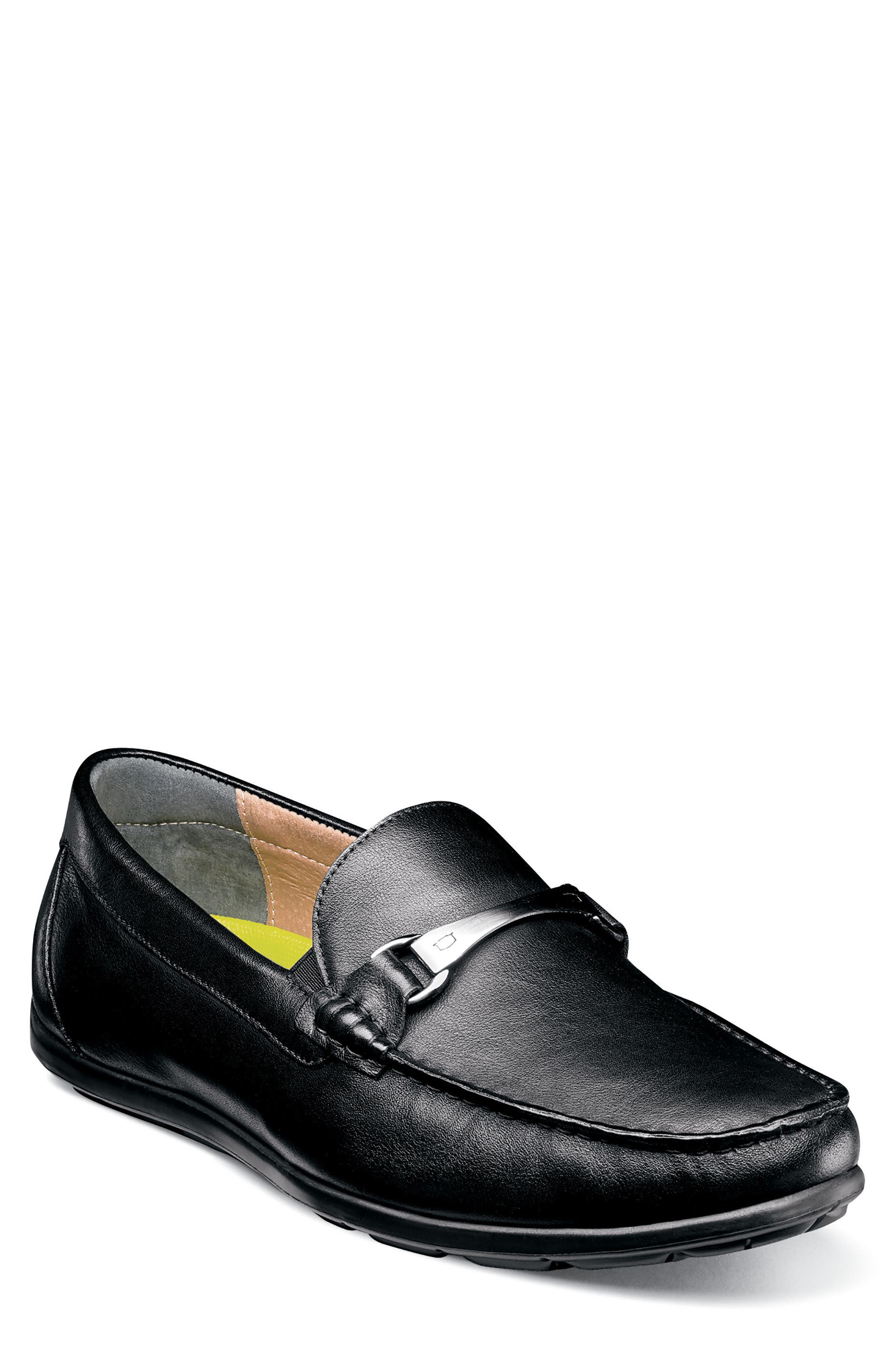 Comfortech Bit Loafer,                         Main,                         color, Black Smooth