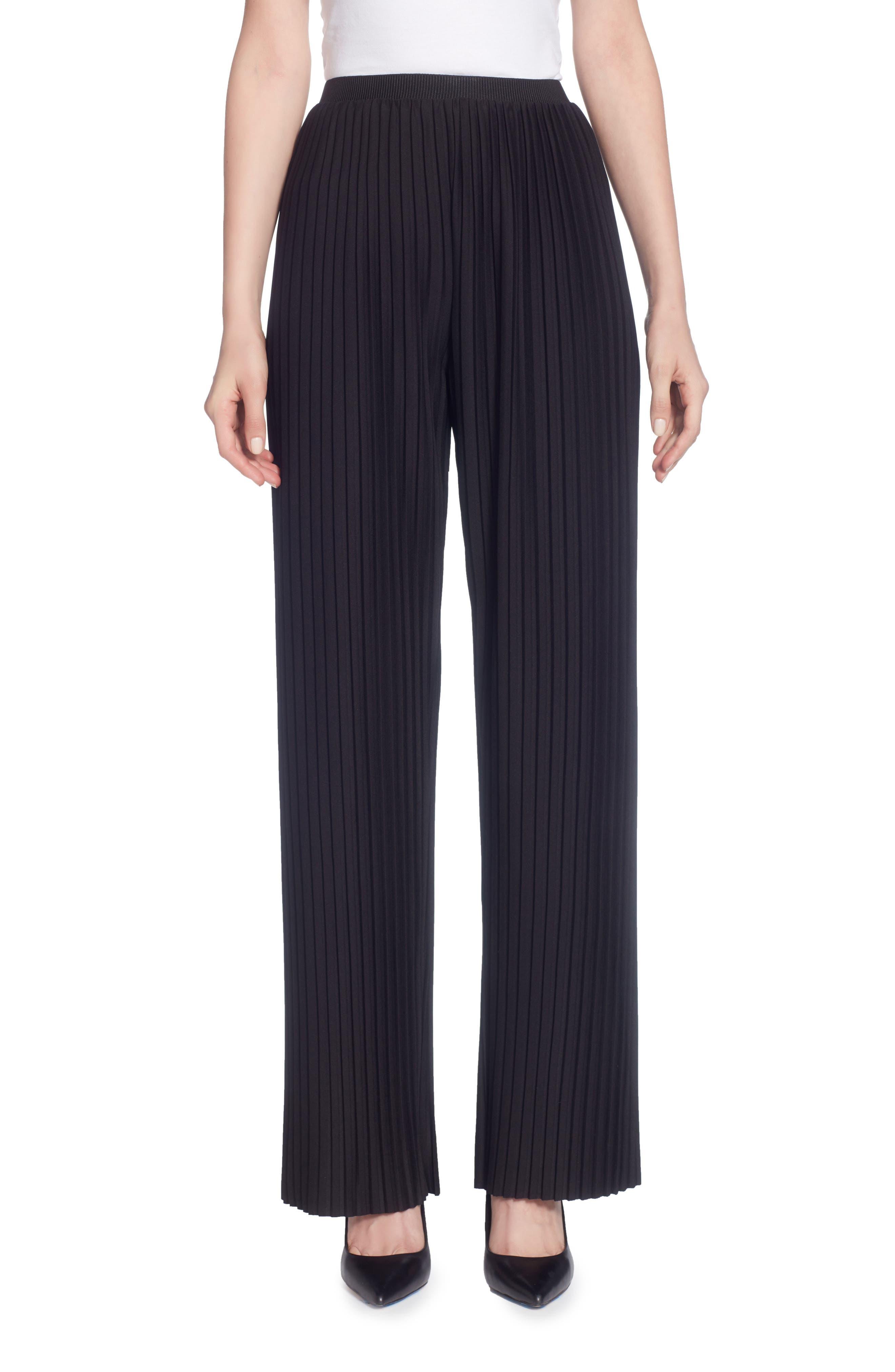 Nielson Pleat Pants,                         Main,                         color, Black