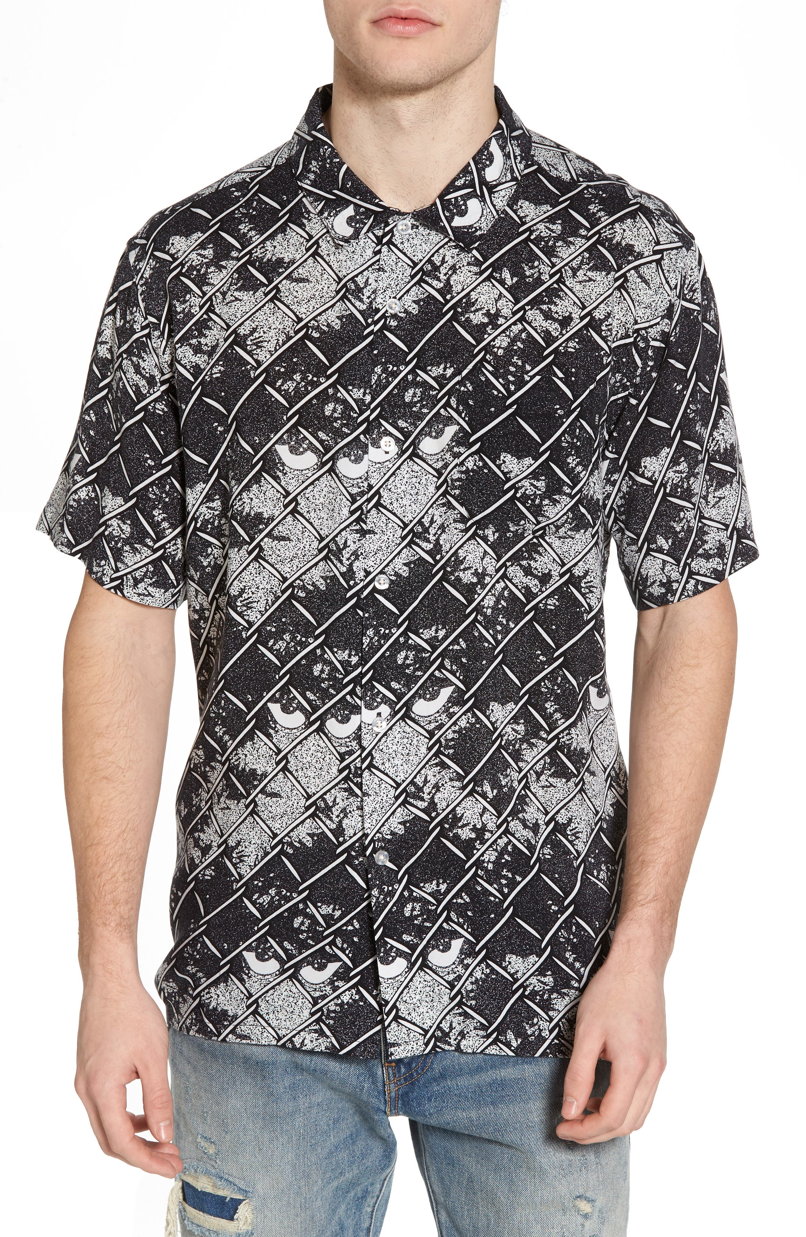 Gatekeeper Short Sleeve Shirt,                             Main thumbnail 1, color,                             Black Multi