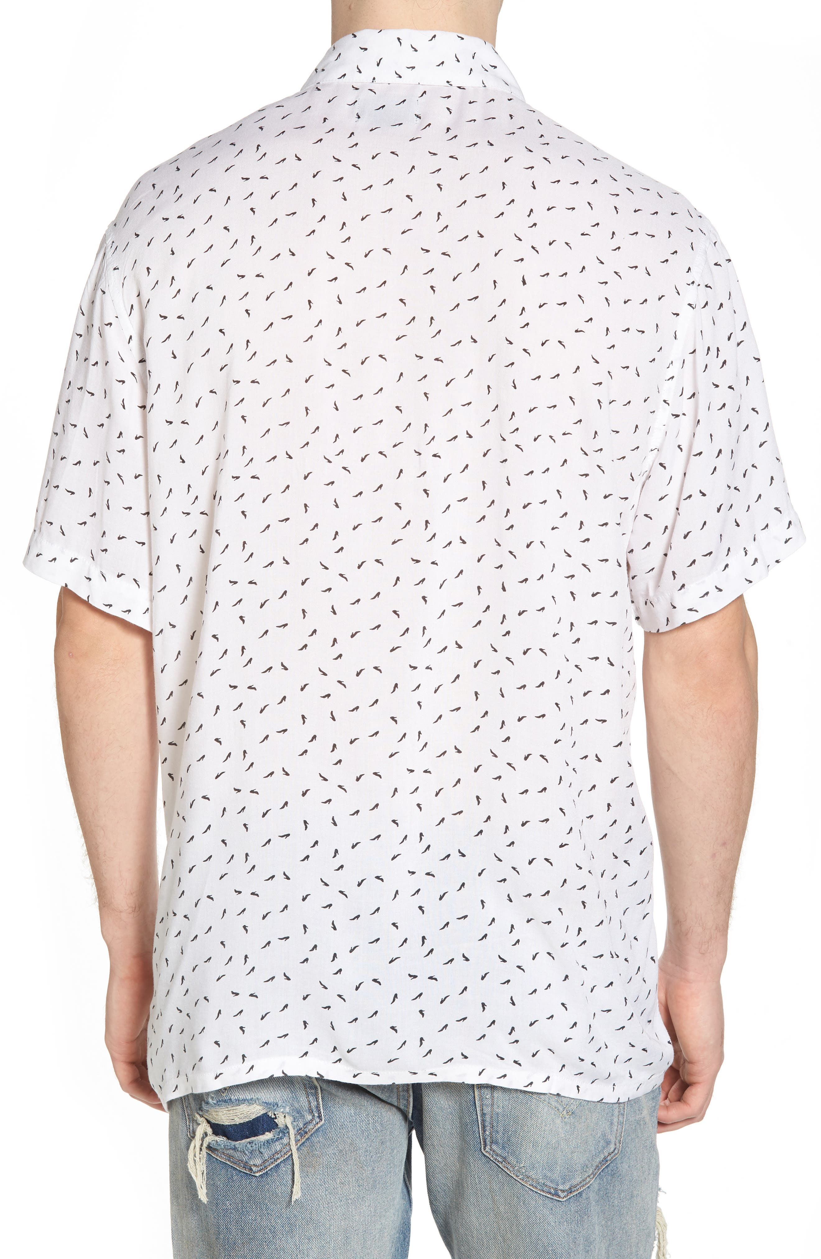 Pumps Short Sleeve Shirt,                             Alternate thumbnail 2, color,                             White Multi