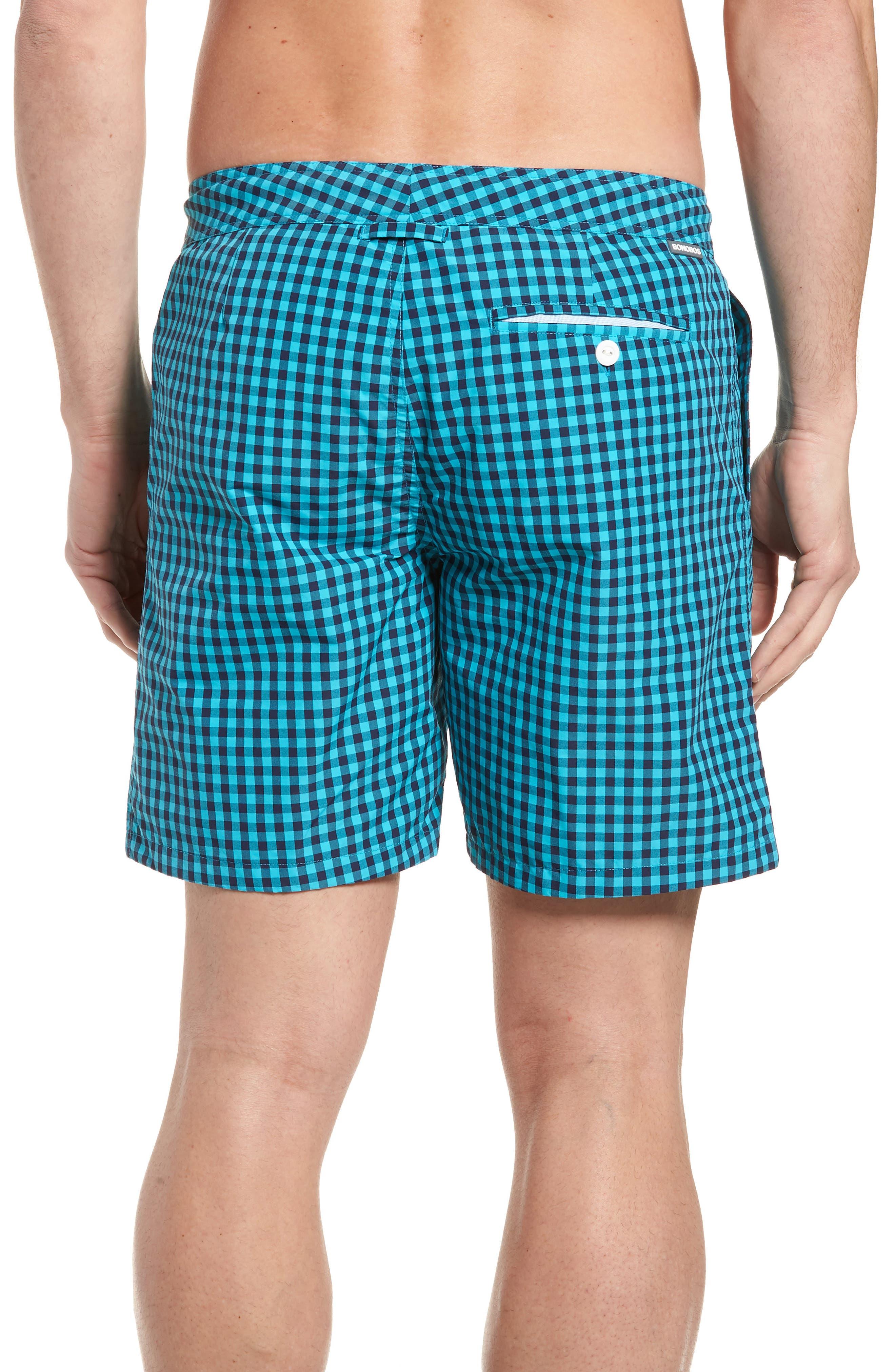 Gingham 7-Inch Swim Trunks,                             Alternate thumbnail 2, color,                             Gulfstream Gingham Scuba Blue