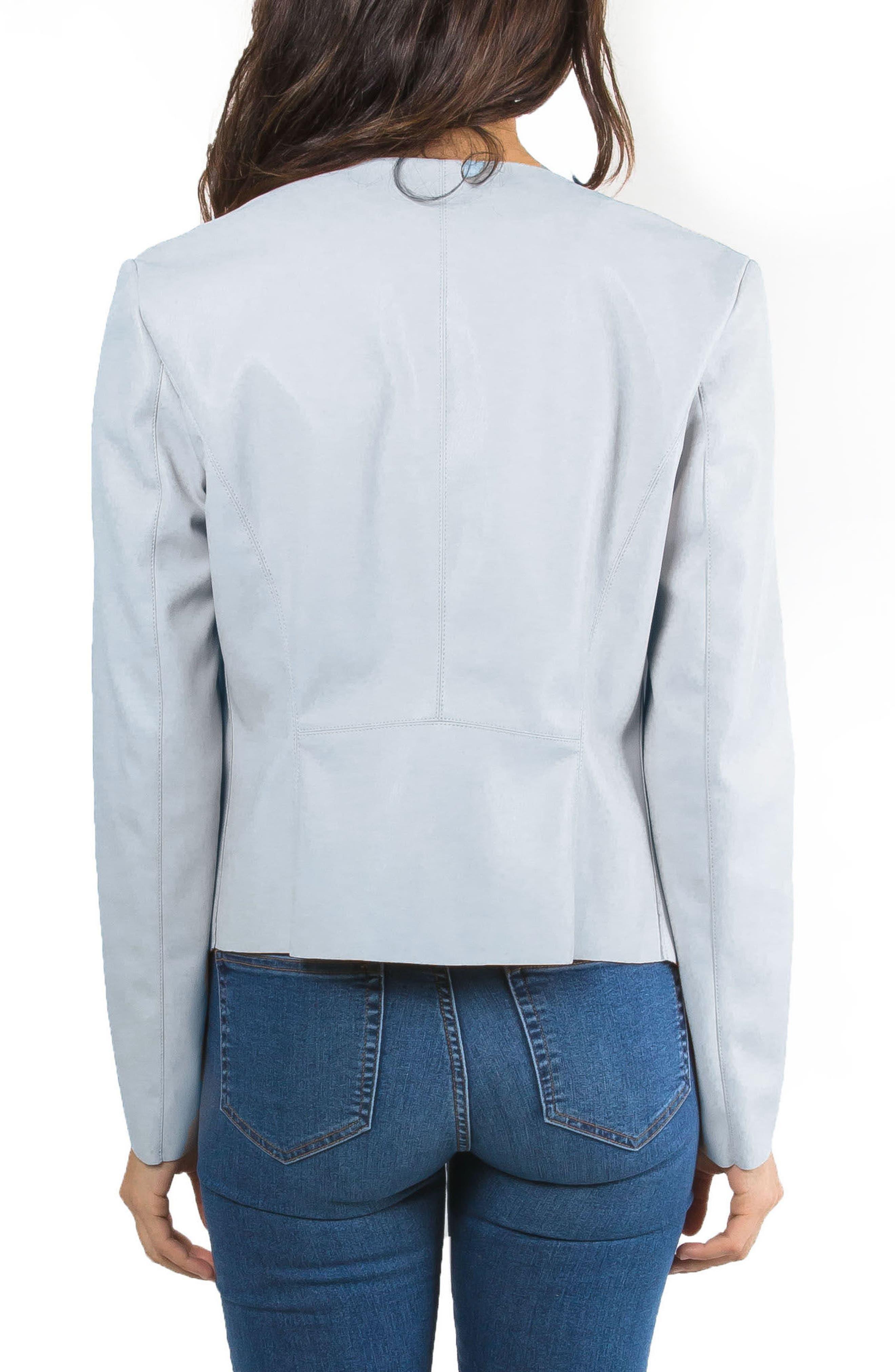 Alternate Image 2  - Bagatelle Drape Faux Leather Jacket