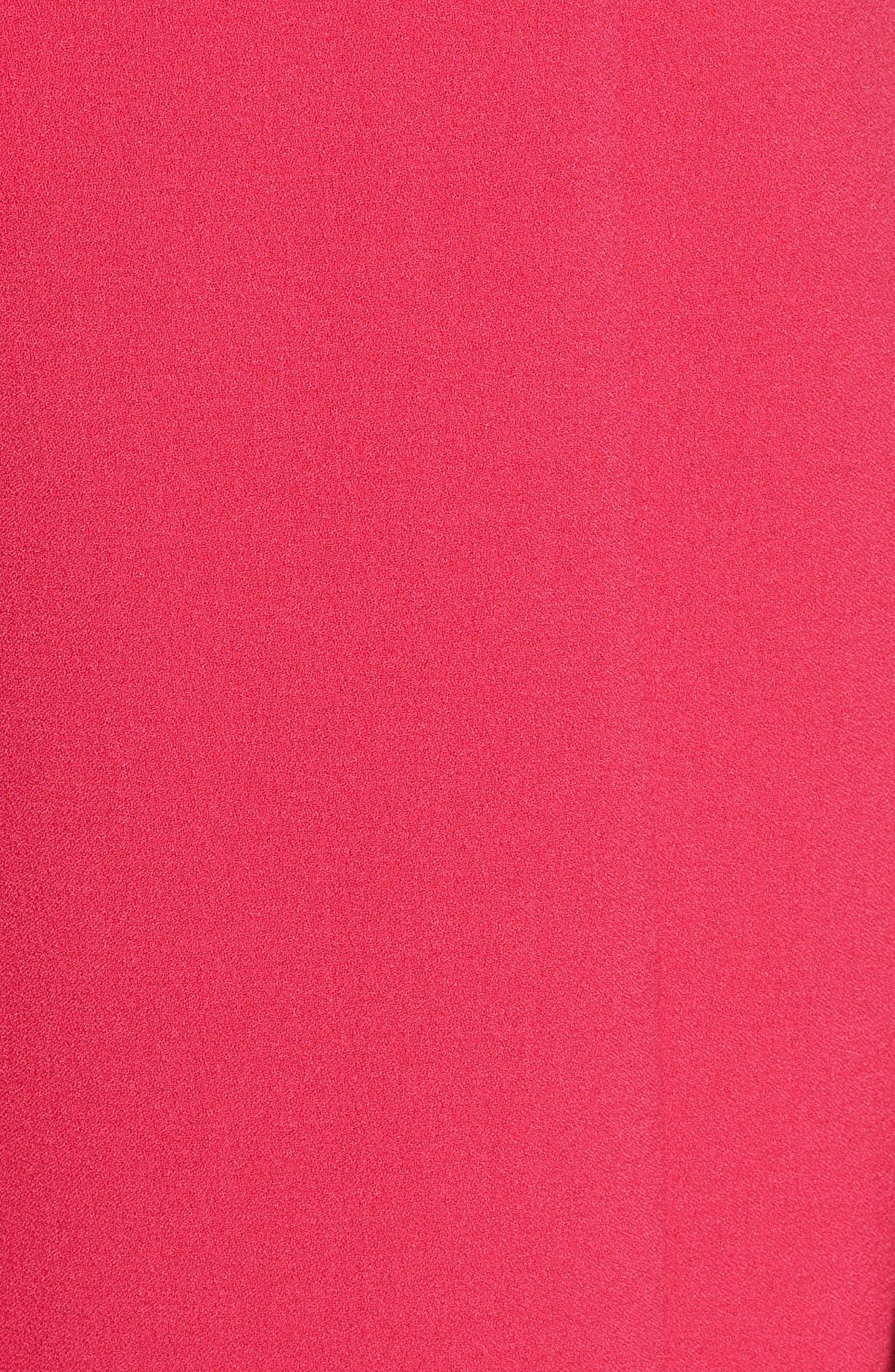 Ruffle Sheath Dress,                             Alternate thumbnail 3, color,                             Fuchsia