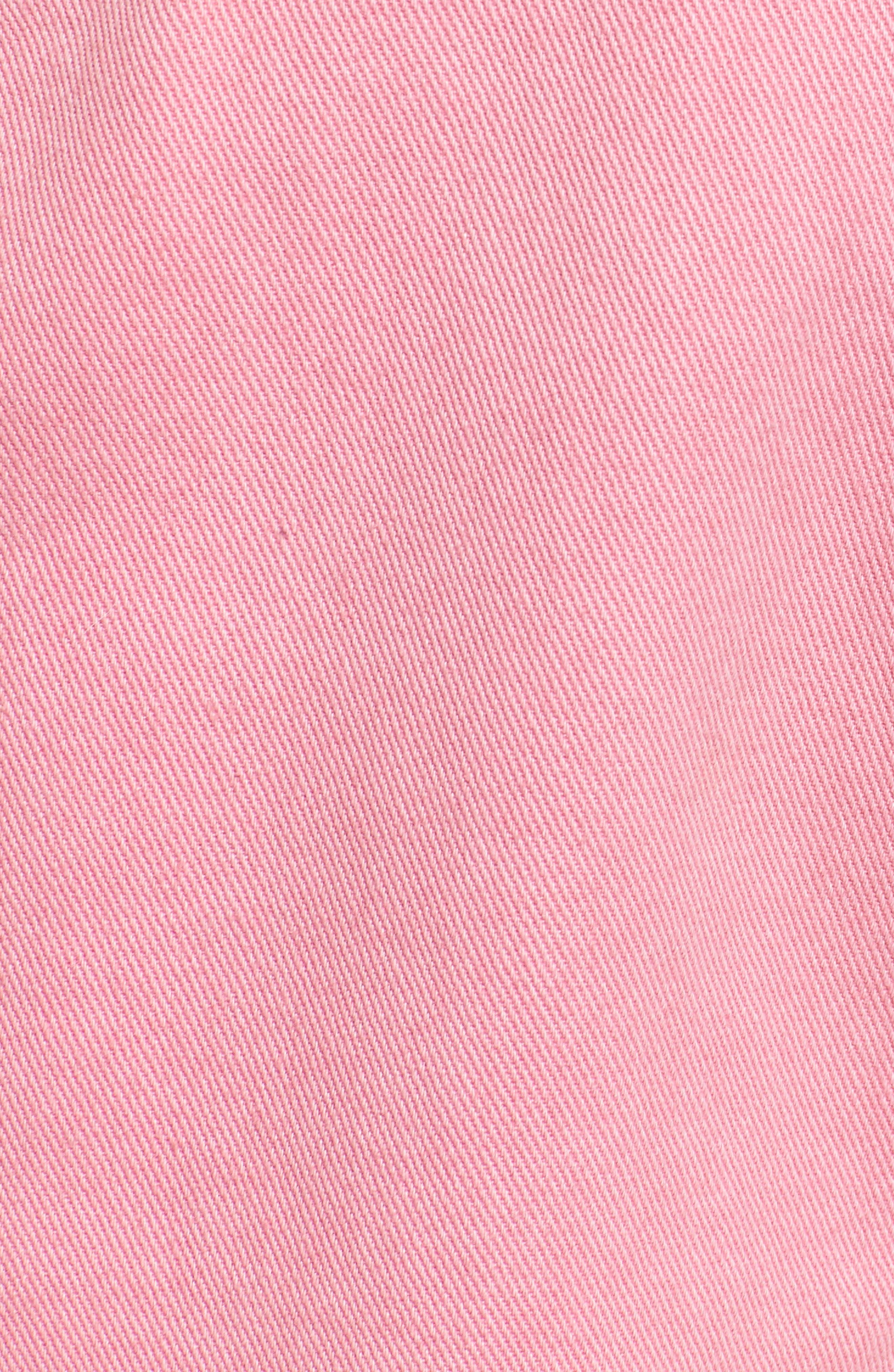 Unionbay Mario Denim Shortalls,                             Alternate thumbnail 5, color,                             Popsicle Pink