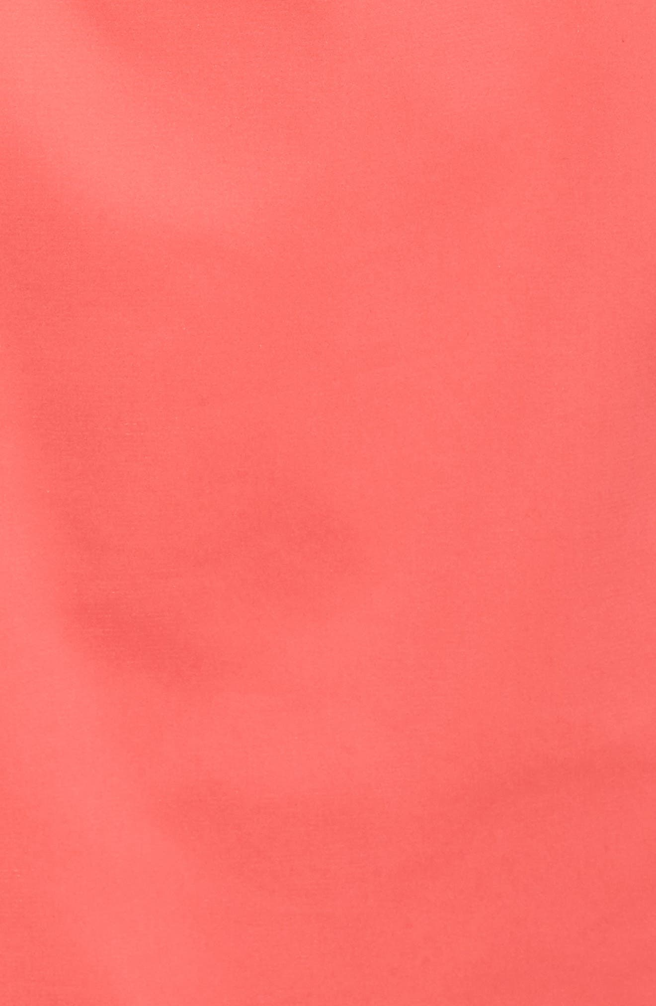 Scalloped A-Line Dress,                             Alternate thumbnail 5, color,                             Strawberry Pink