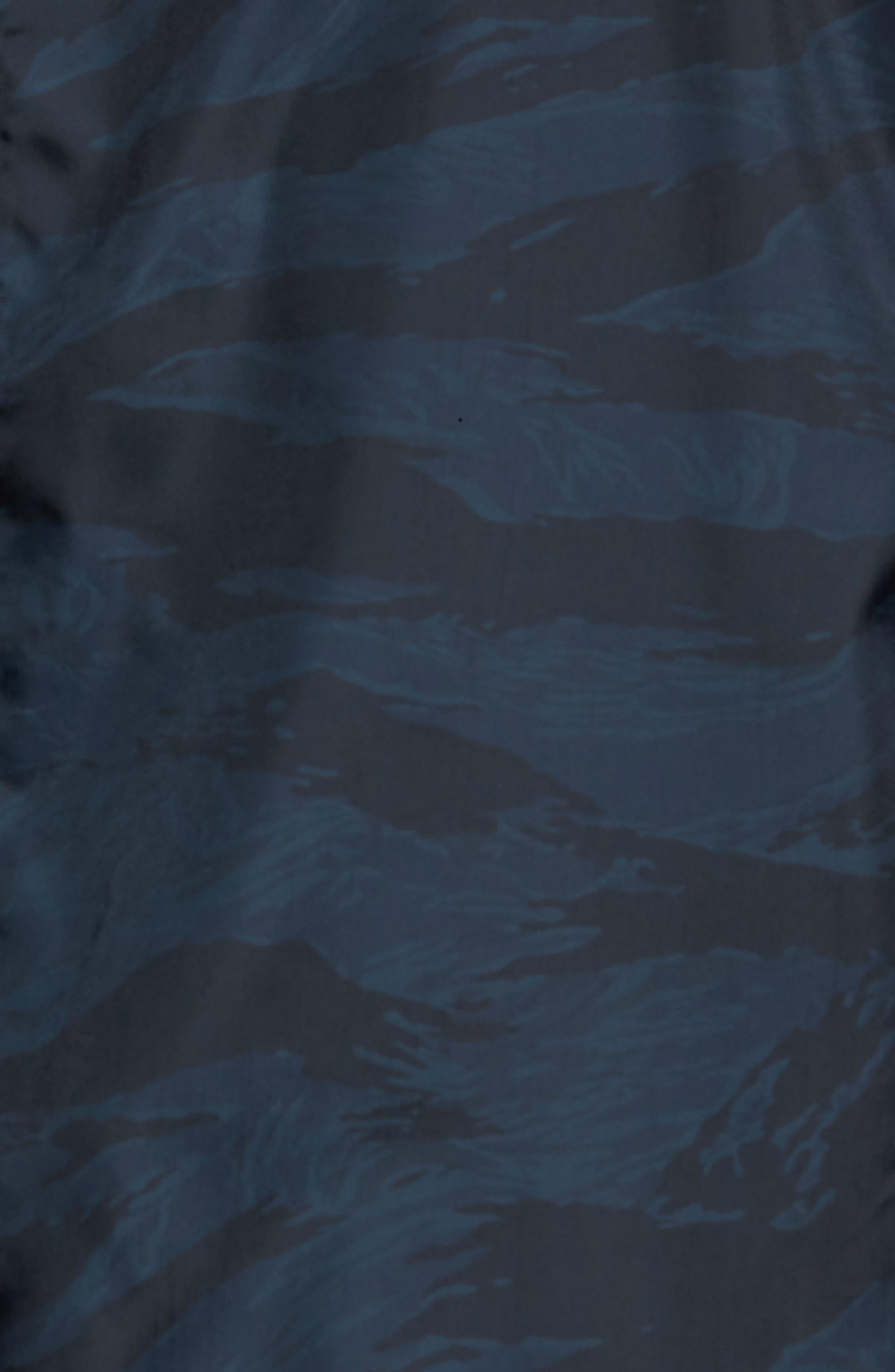 Print Bomber Jacket,                             Alternate thumbnail 5, color,                             Navy