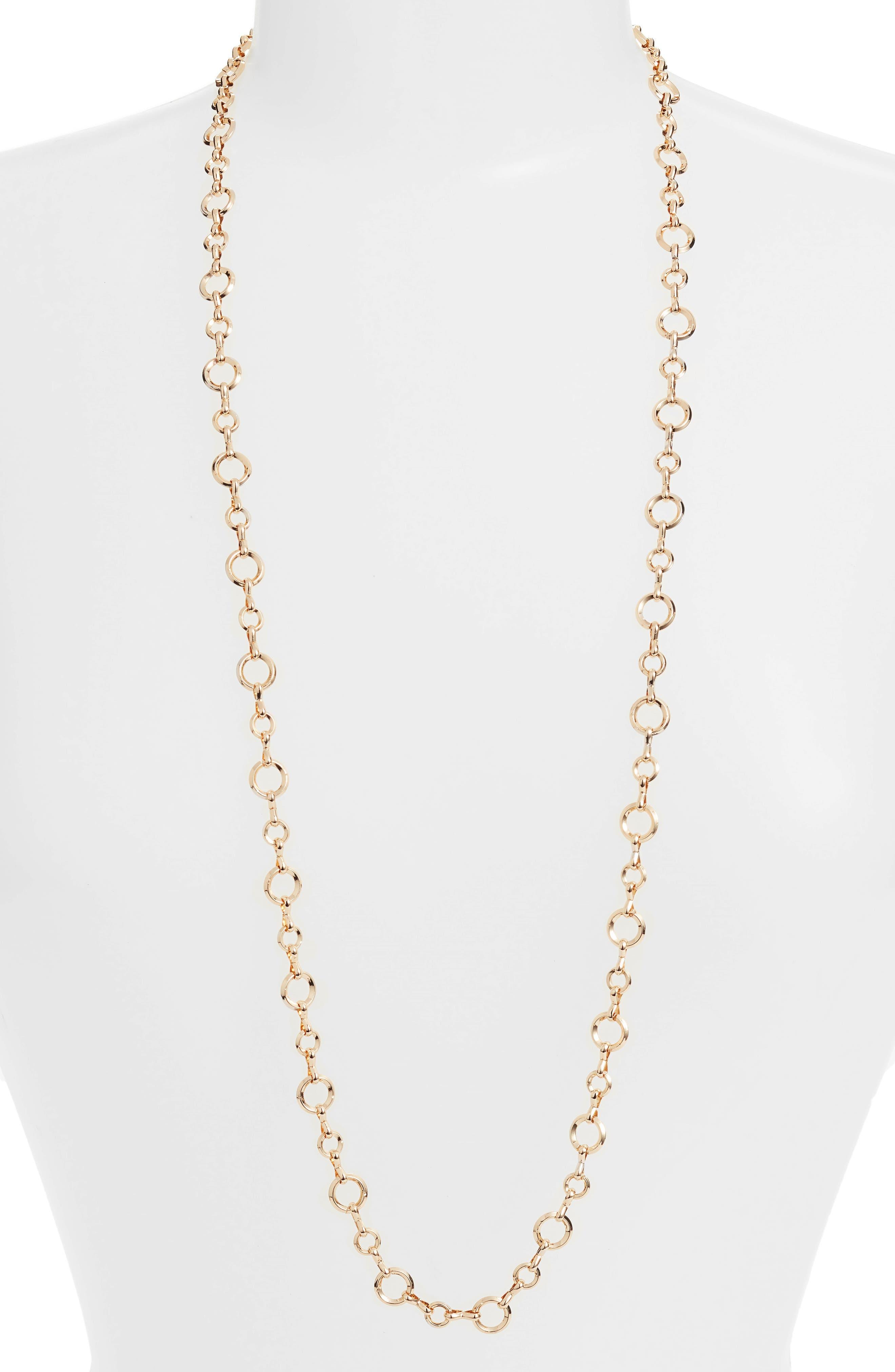 Halogen® Textured Circle Link Necklace