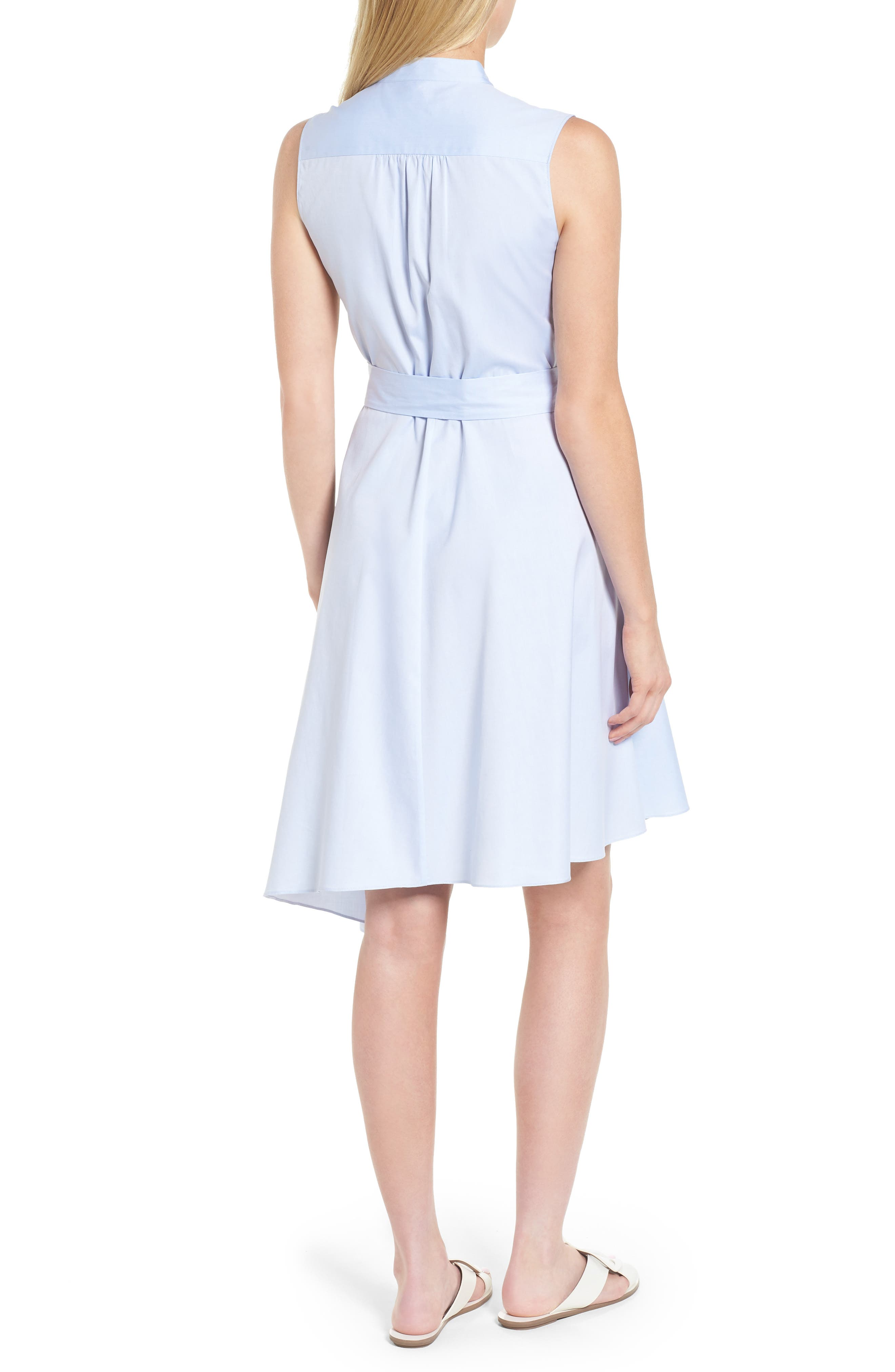 Asymmetrical Shirtdress,                             Alternate thumbnail 2, color,                             Blue Feather