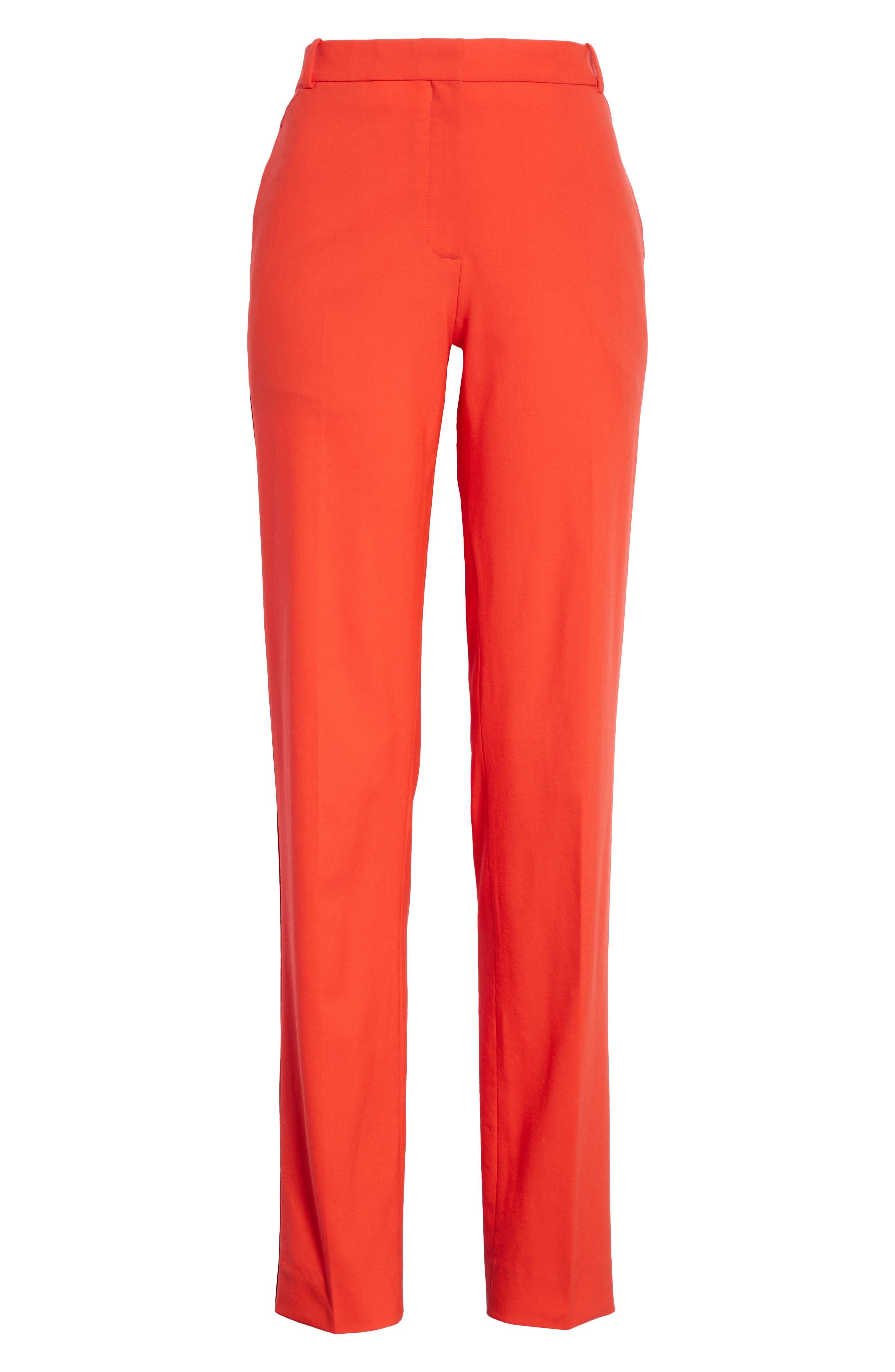 Oman Side Stripe Wool Blend Pants,                             Alternate thumbnail 7, color,                             Red
