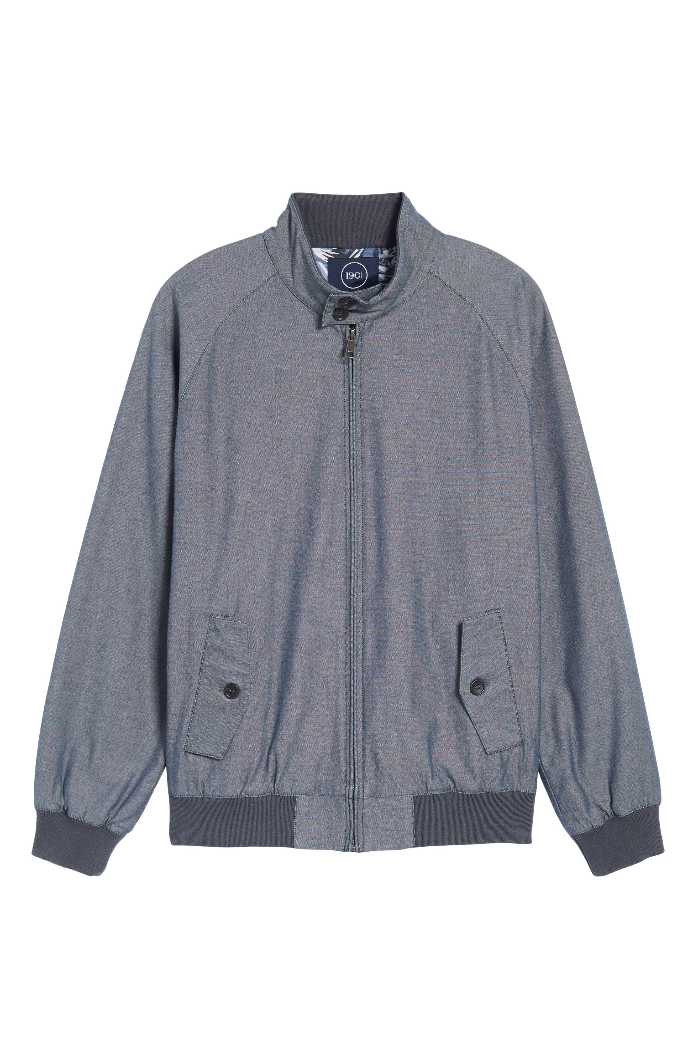 Harrington Jacket,                             Alternate thumbnail 6, color,                             Blue Vintage Chambray