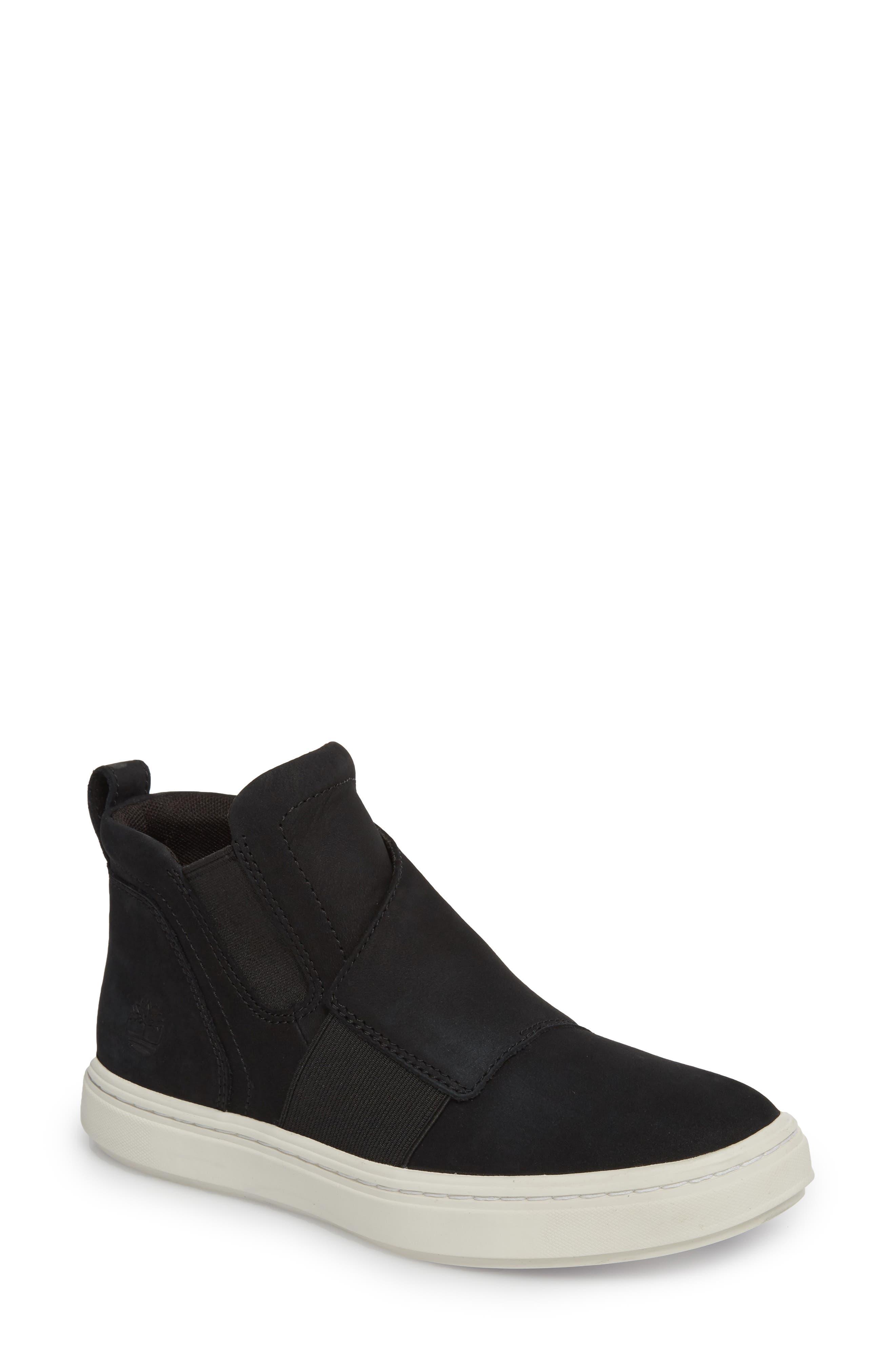 Londyn Chelsea Boot,                         Main,                         color, Black Nubuck Leather