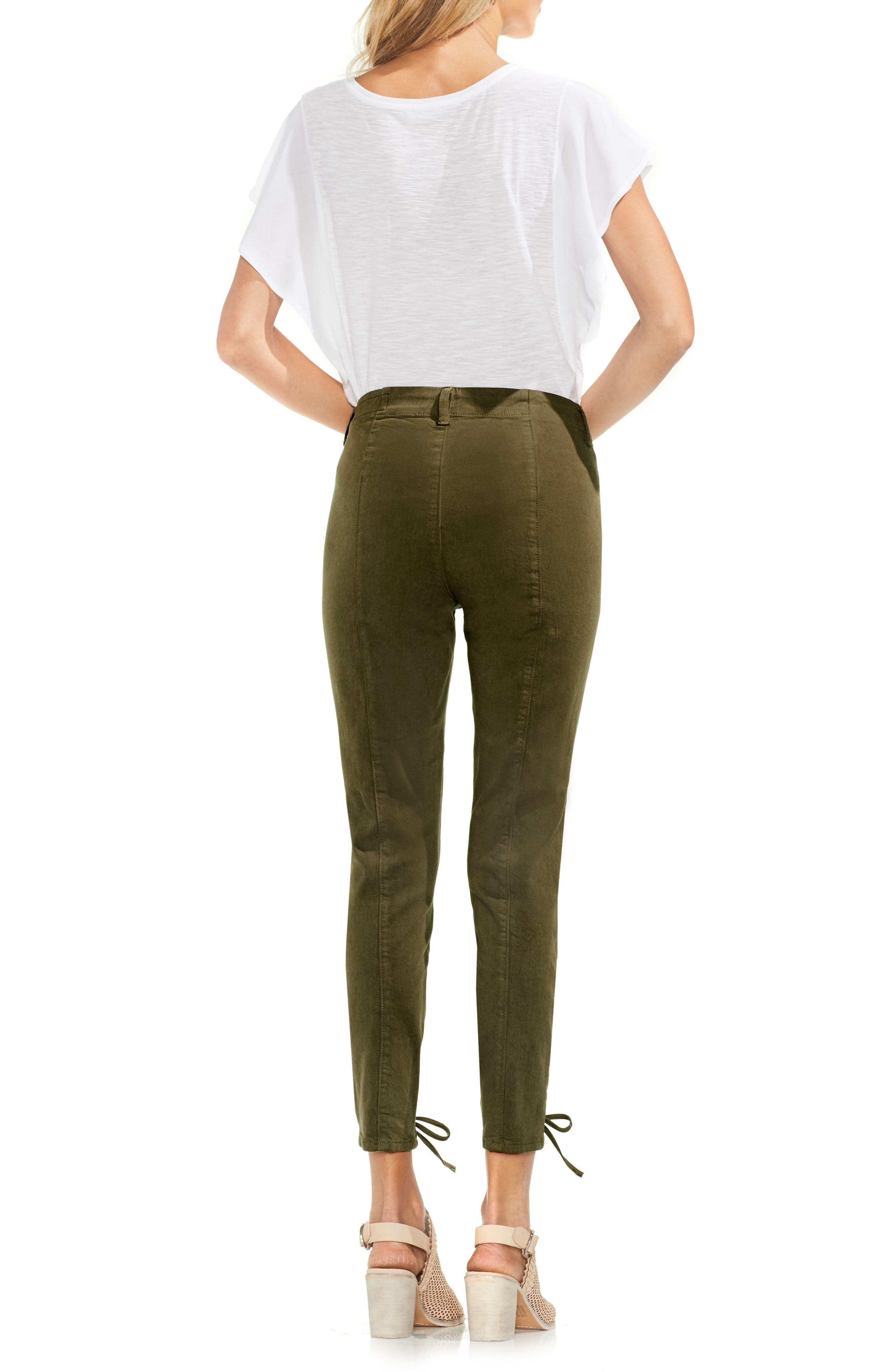 Lace-Up Cuff D-Luxe Pants,                             Alternate thumbnail 5, color,                             Legion Green