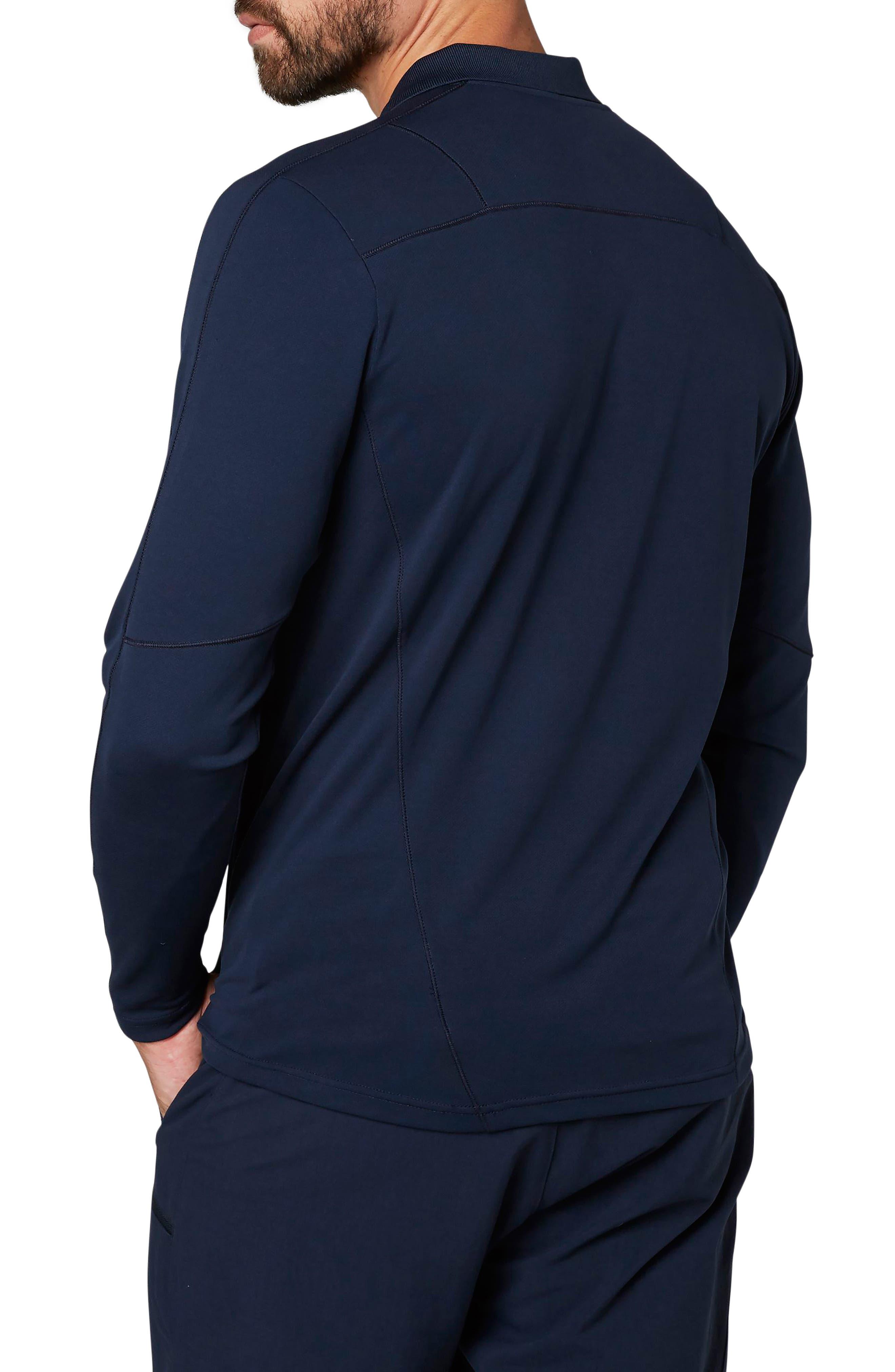 HH<sup>®</sup> Lifa Active Light Long Sleeve Polo Shirt,                             Alternate thumbnail 2, color,                             Navy