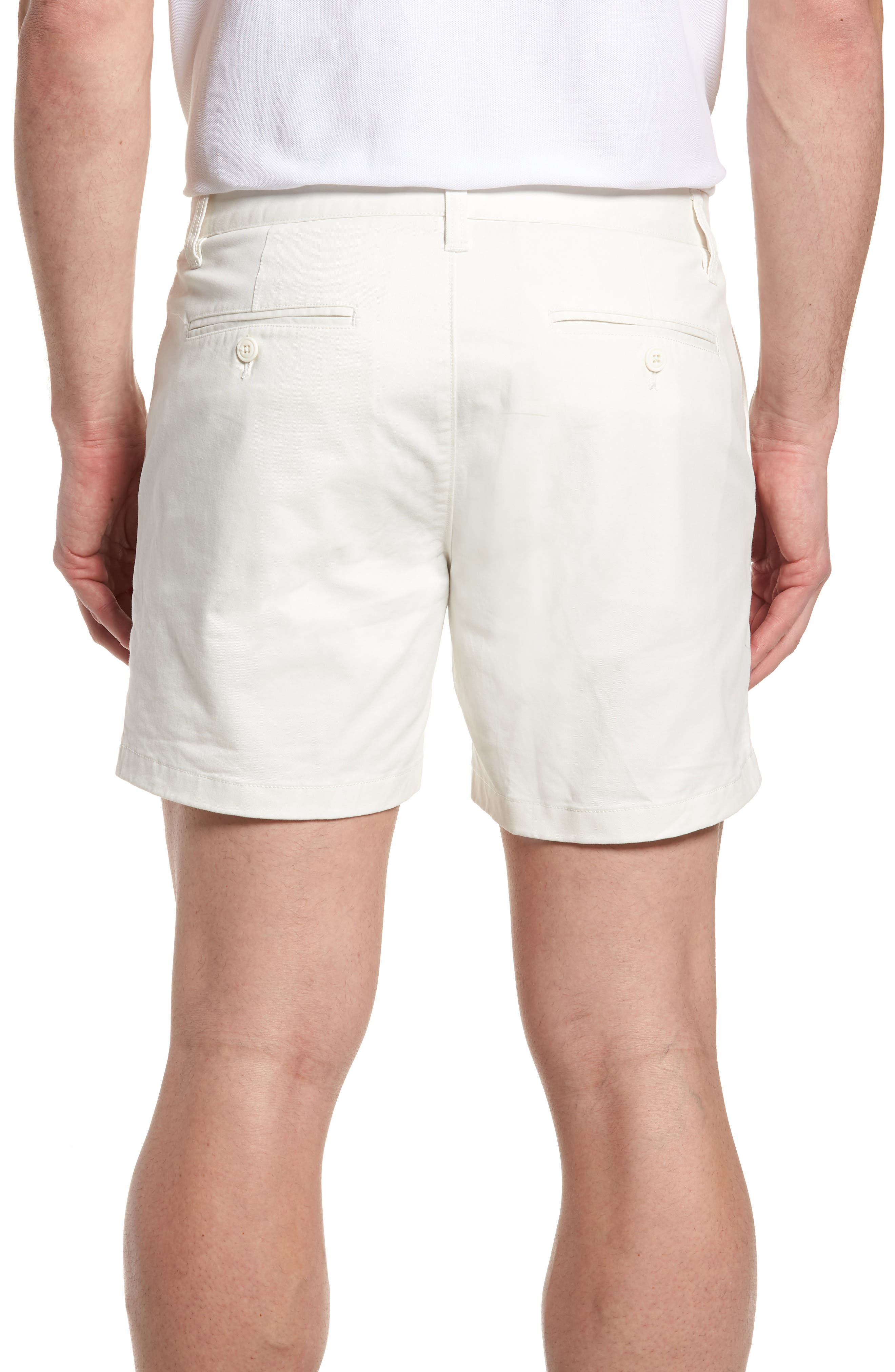 Stretch Washed Chino 5-Inch Shorts,                             Alternate thumbnail 2, color,                             Full Sail Off White