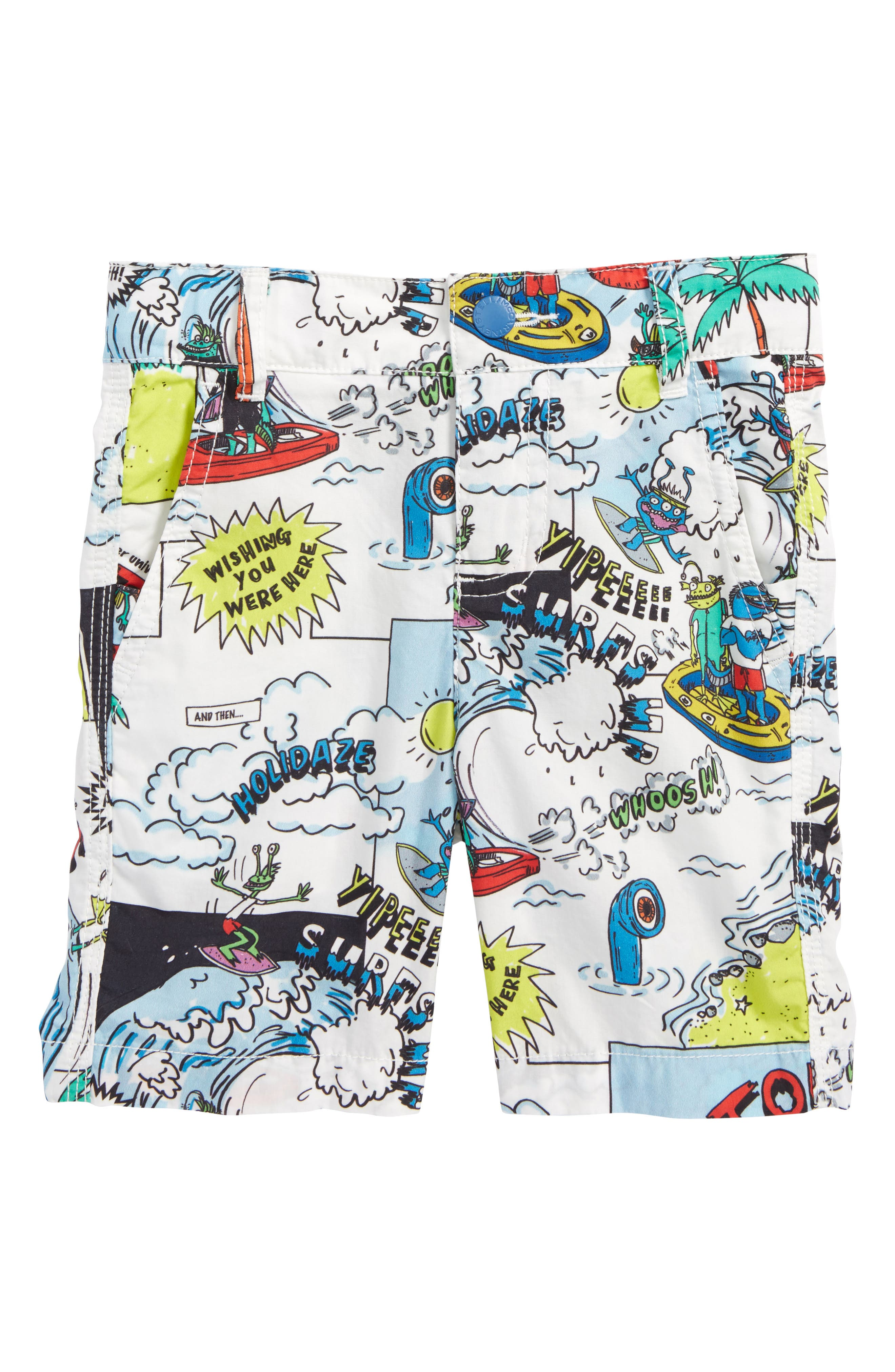 Stella McCartney Lucas Cartoon Print Shorts (Toddler Boys, Little Boys & Big Boys)
