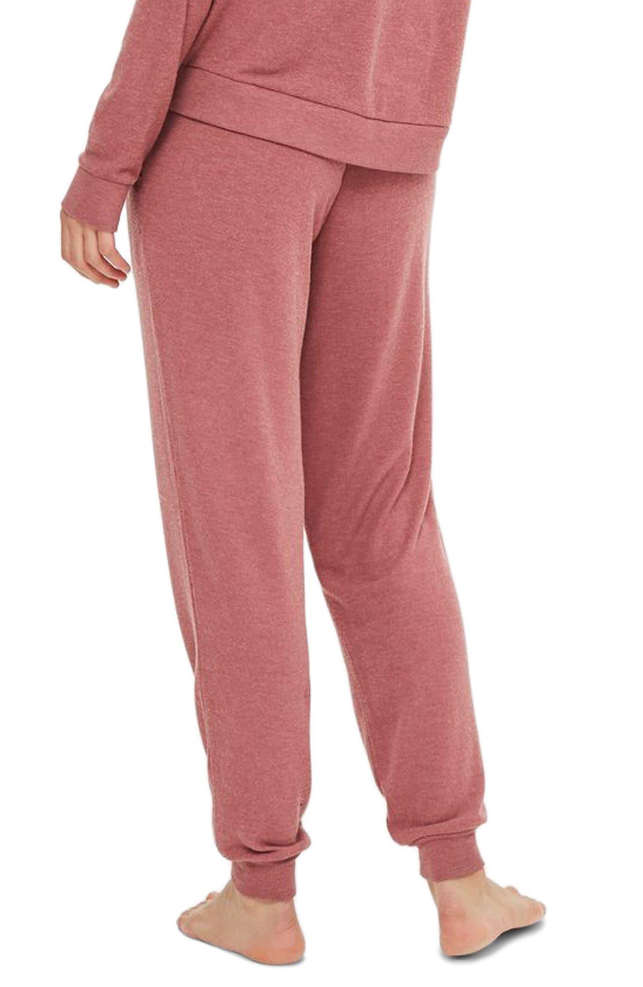 Rose Jogger Pajama Pants,                             Alternate thumbnail 2, color,                             Pink