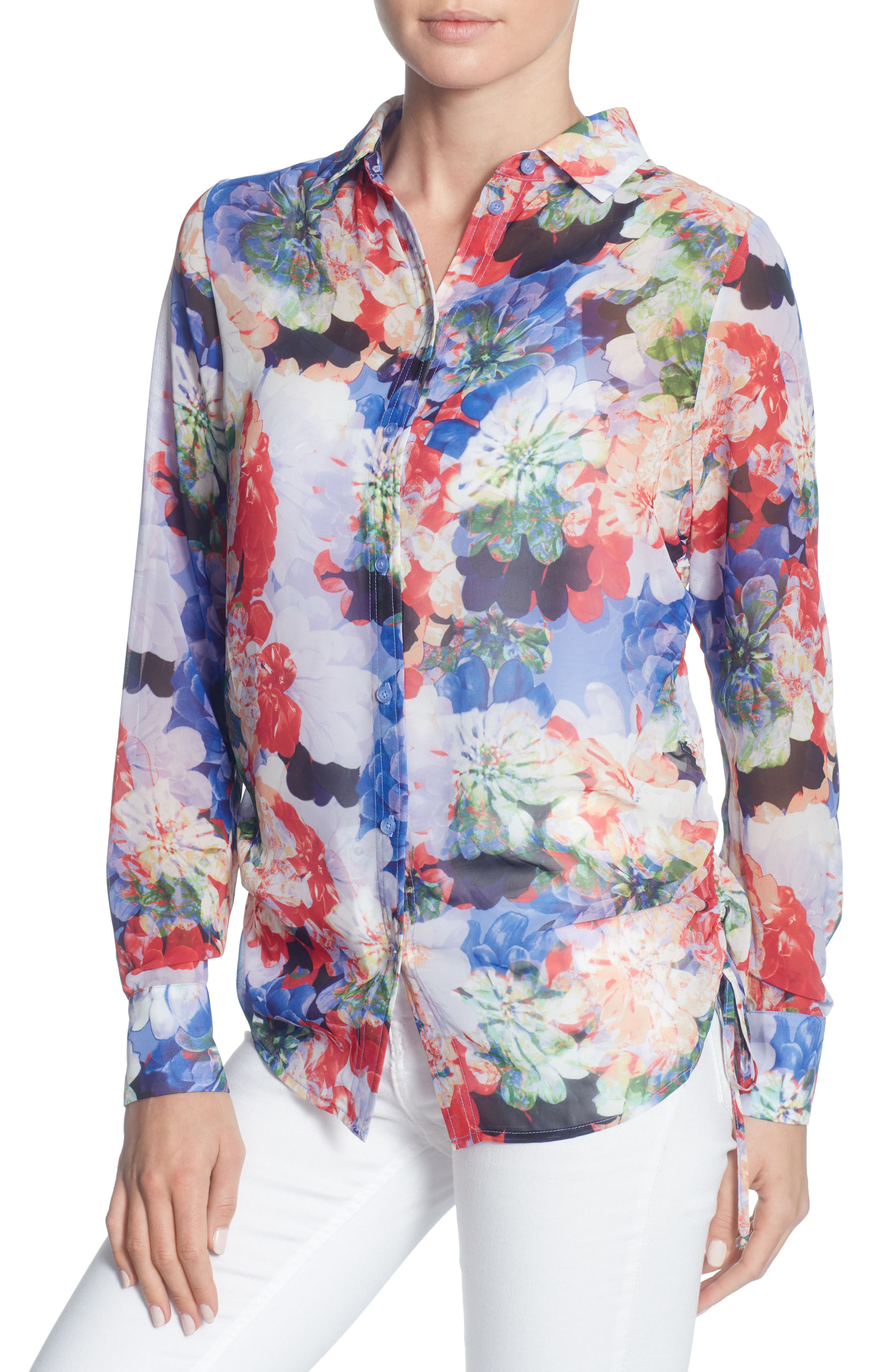 Spencer Blouse,                         Main,                         color, Spring Blooms