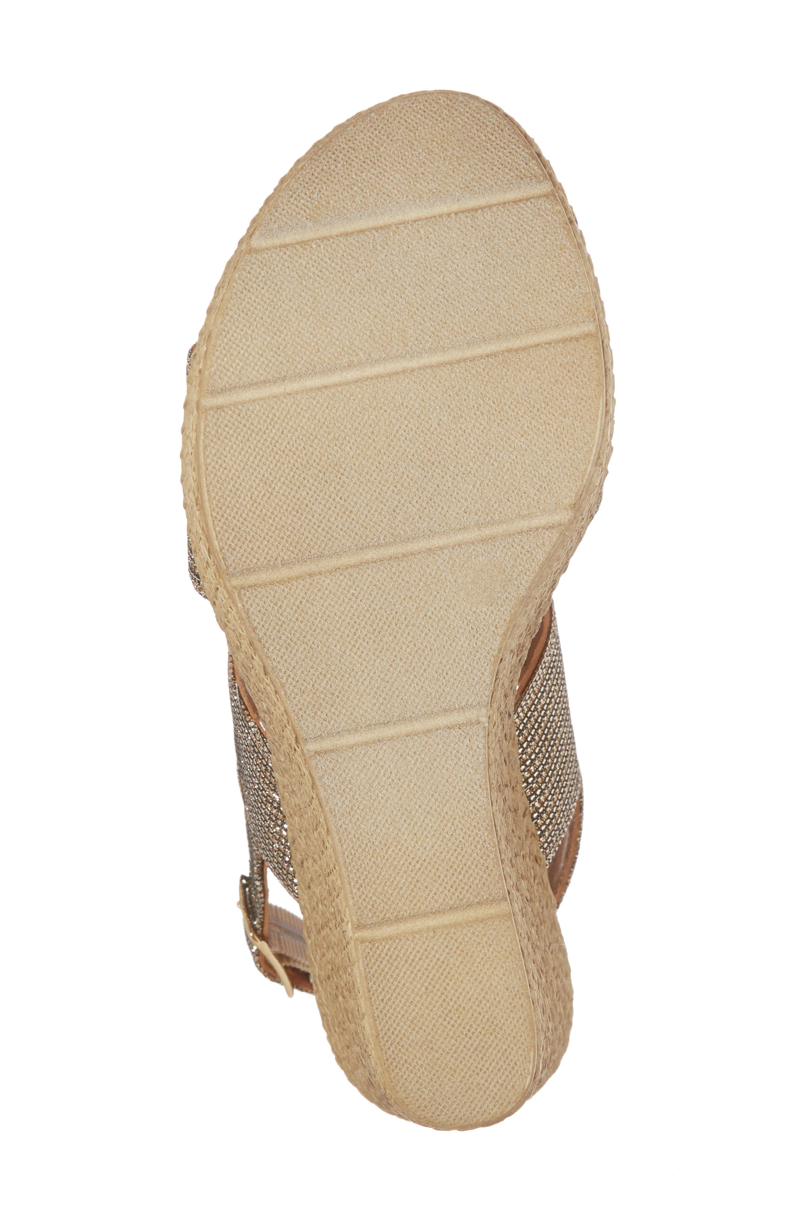 Downtime Wedge Sandal,                             Alternate thumbnail 6, color,                             Bronze Metallic Fabric