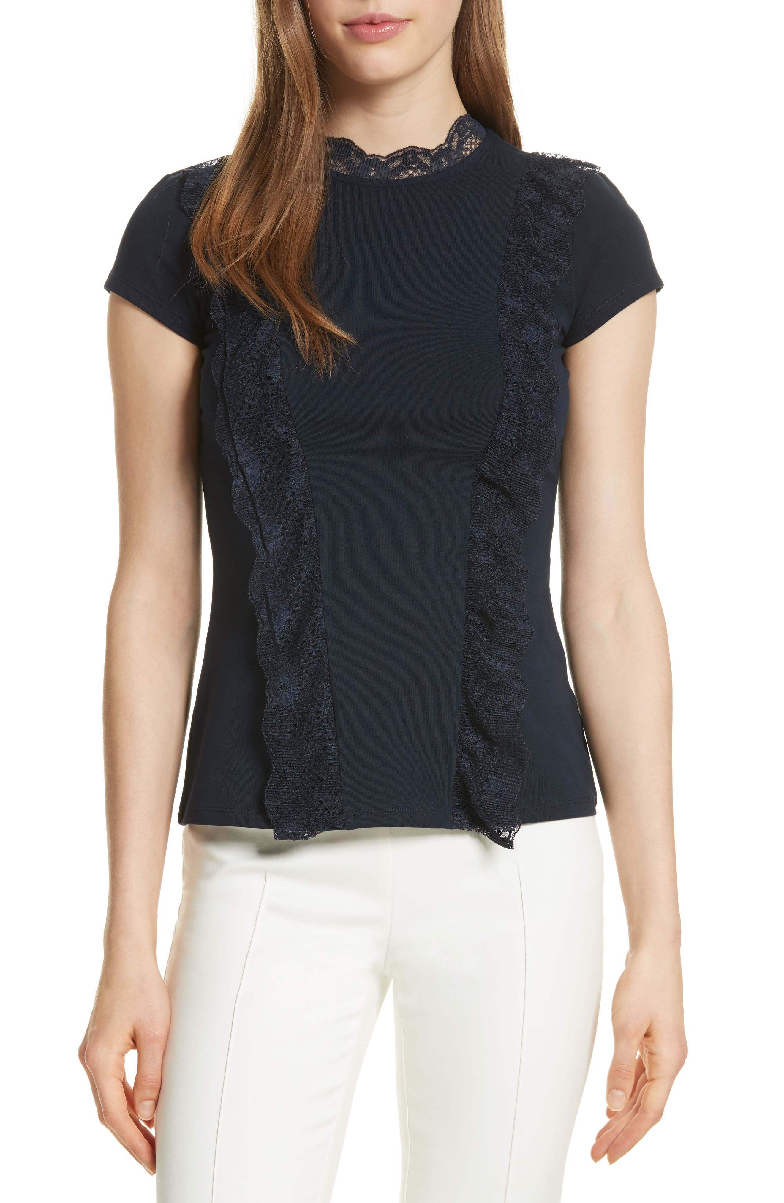 Ted Baker London Lace Trim Top